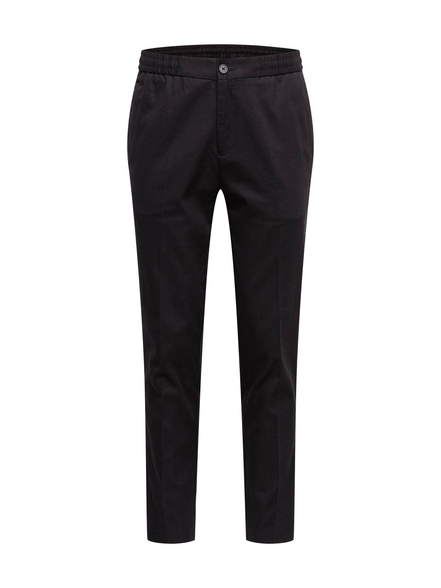 BURTON MENSWEAR LONDON Kelnės su kantu juoda