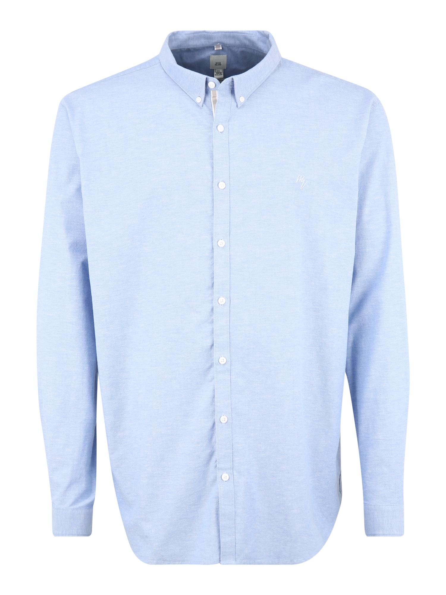 River Island Big & Tall Marškiniai šviesiai mėlyna