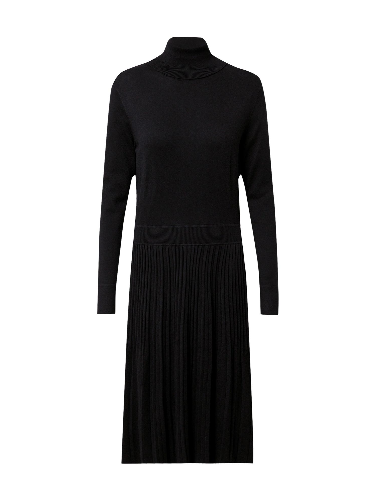 Calvin Klein Úpletové šaty 'Flare'  černá