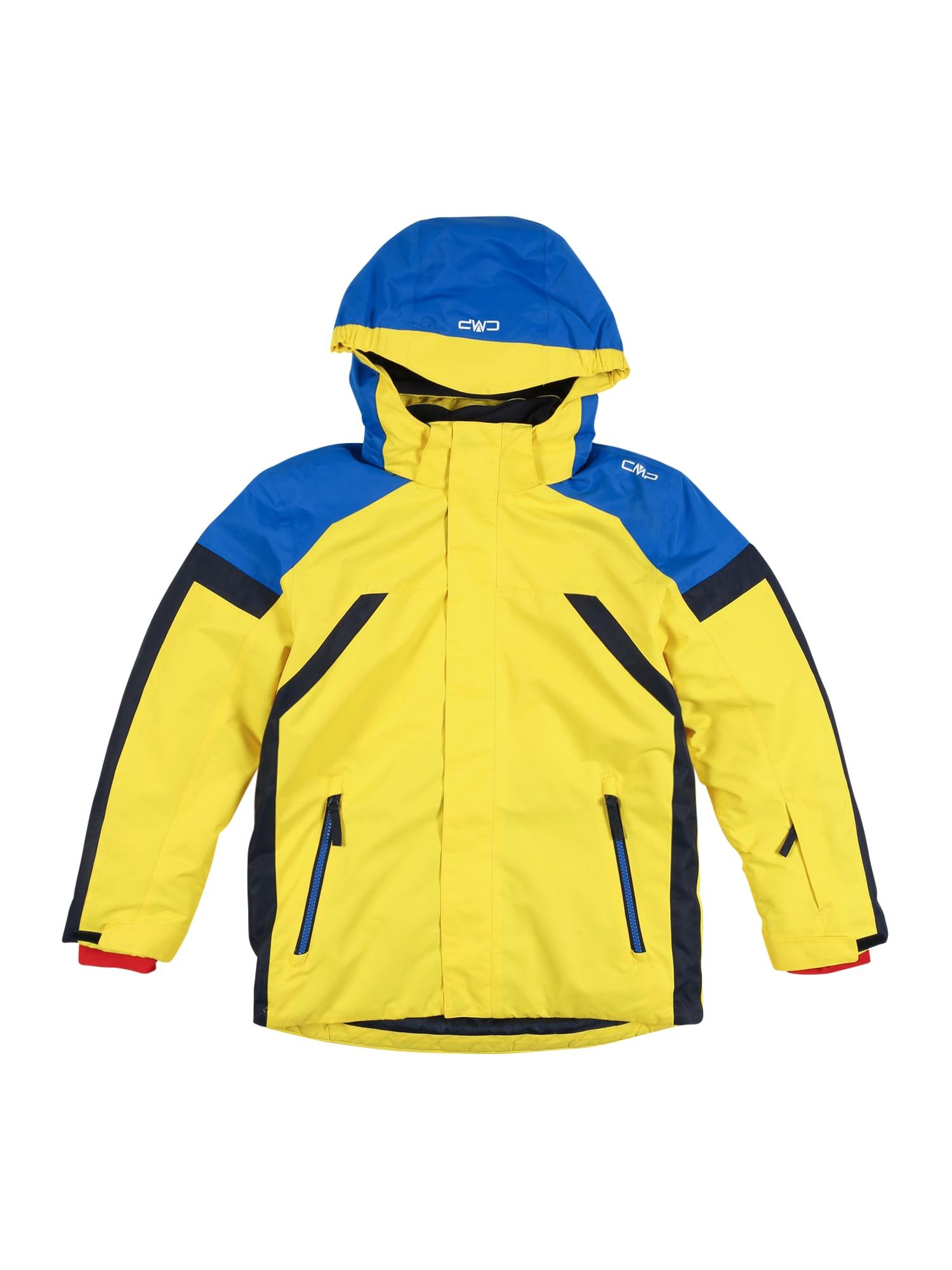 CMP Športová bunda  žltá / modrá