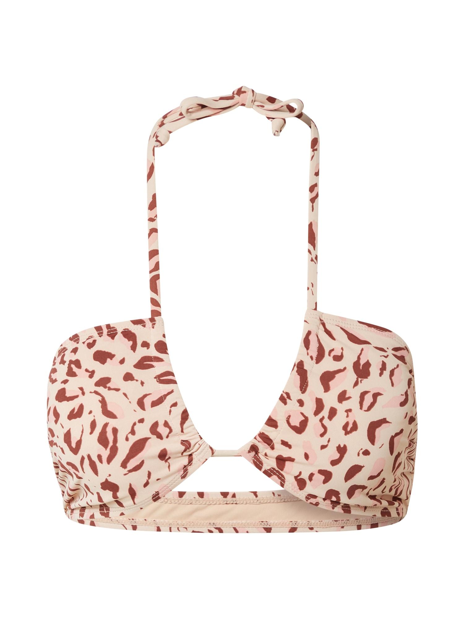 Cotton On Body Bikinio viršutinė dalis kapučino spalva / šviesiai rožinė / kaštoninė spalva