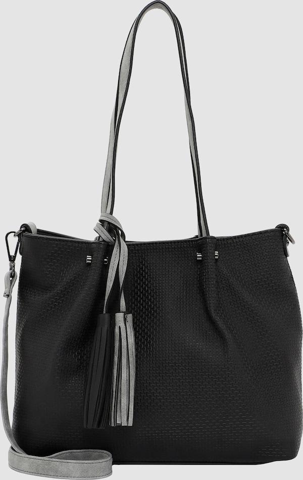 Diese Bag-in-Bag Shopper Tasche von Emily & Noah aus Kunstleder eignet sich perfekt für Büro oder Freizeit. Elegantes Design und durchdachte Funktionalität machen die Tasche zum echten Hingucker. Mit herausnehmbarer Innentasche, die auch separat als Umhängetasche getragen werden kann, sowie abnehmbarem Umhängeriemen ausgestattet.