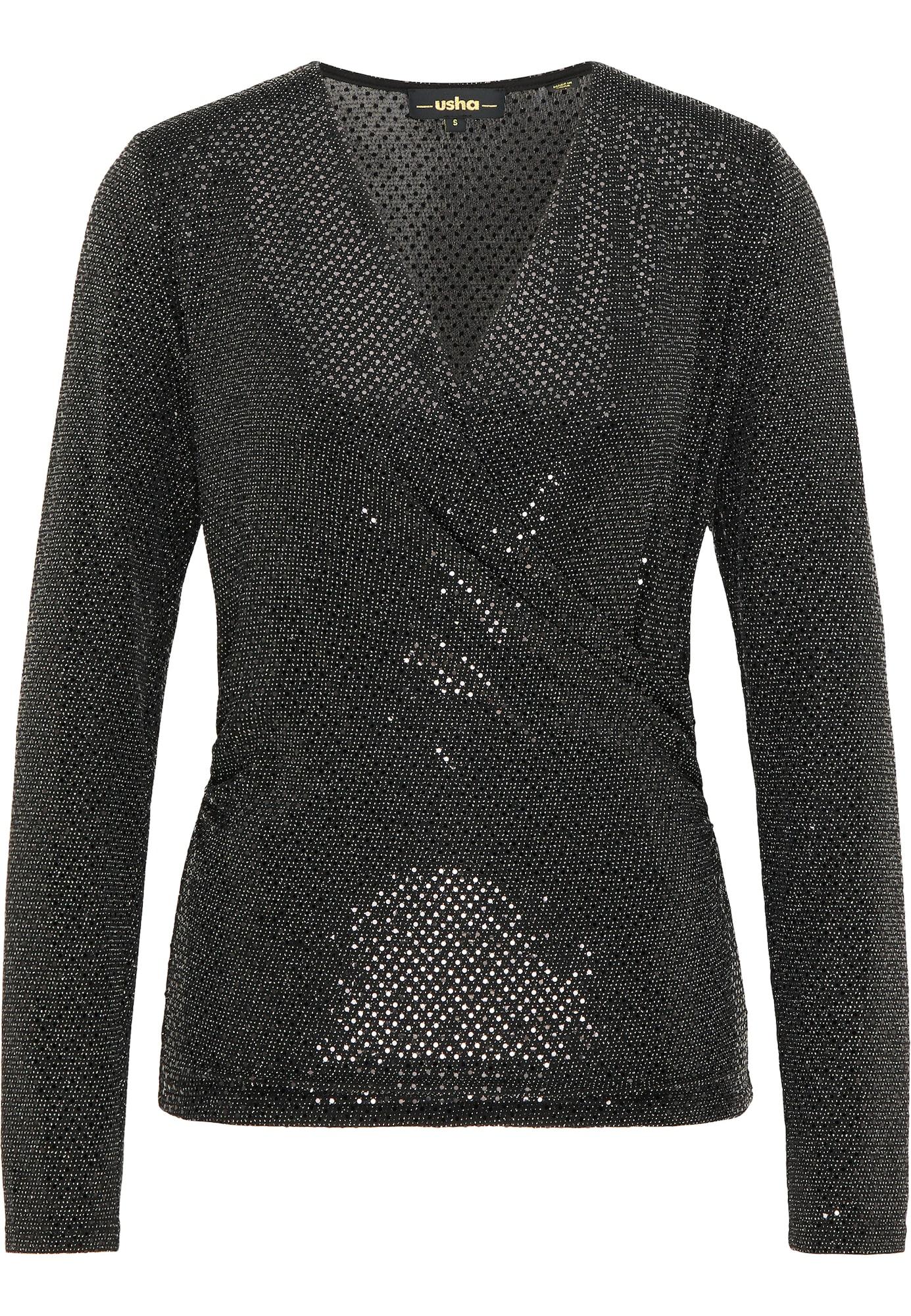 usha BLACK LABEL Marškinėliai juoda / auksas