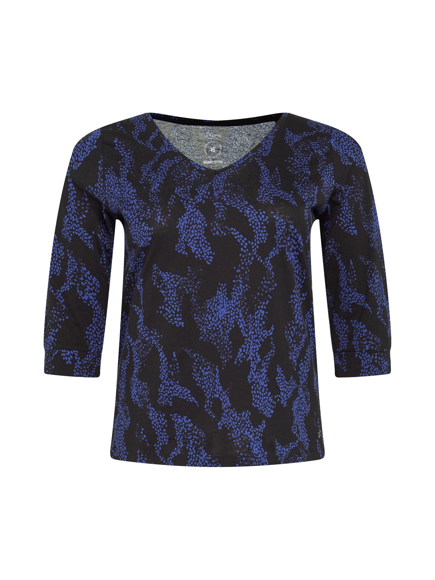 MY TRUE ME Marškinėliai tamsiai mėlyna / juoda