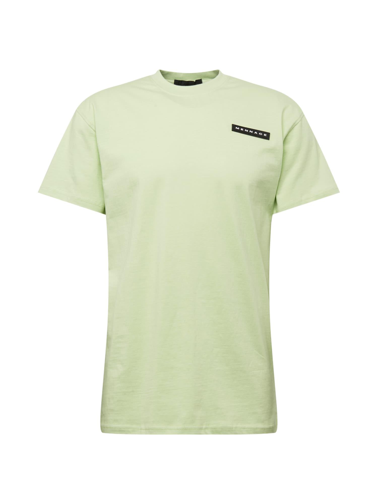 Mennace Marškinėliai šviesiai žalia / juoda / balta