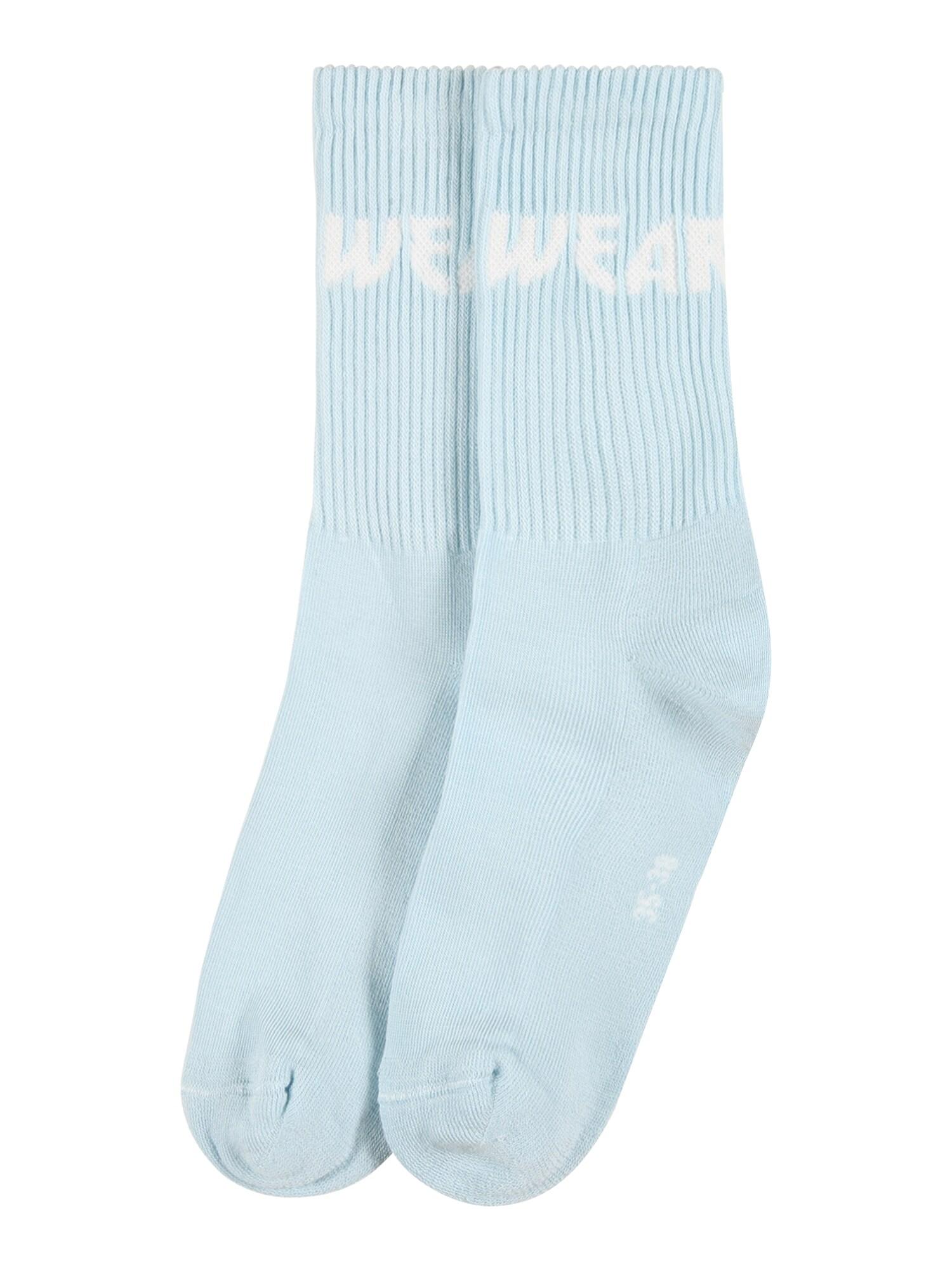 WEARKND Kojinės šviesiai mėlyna / balta