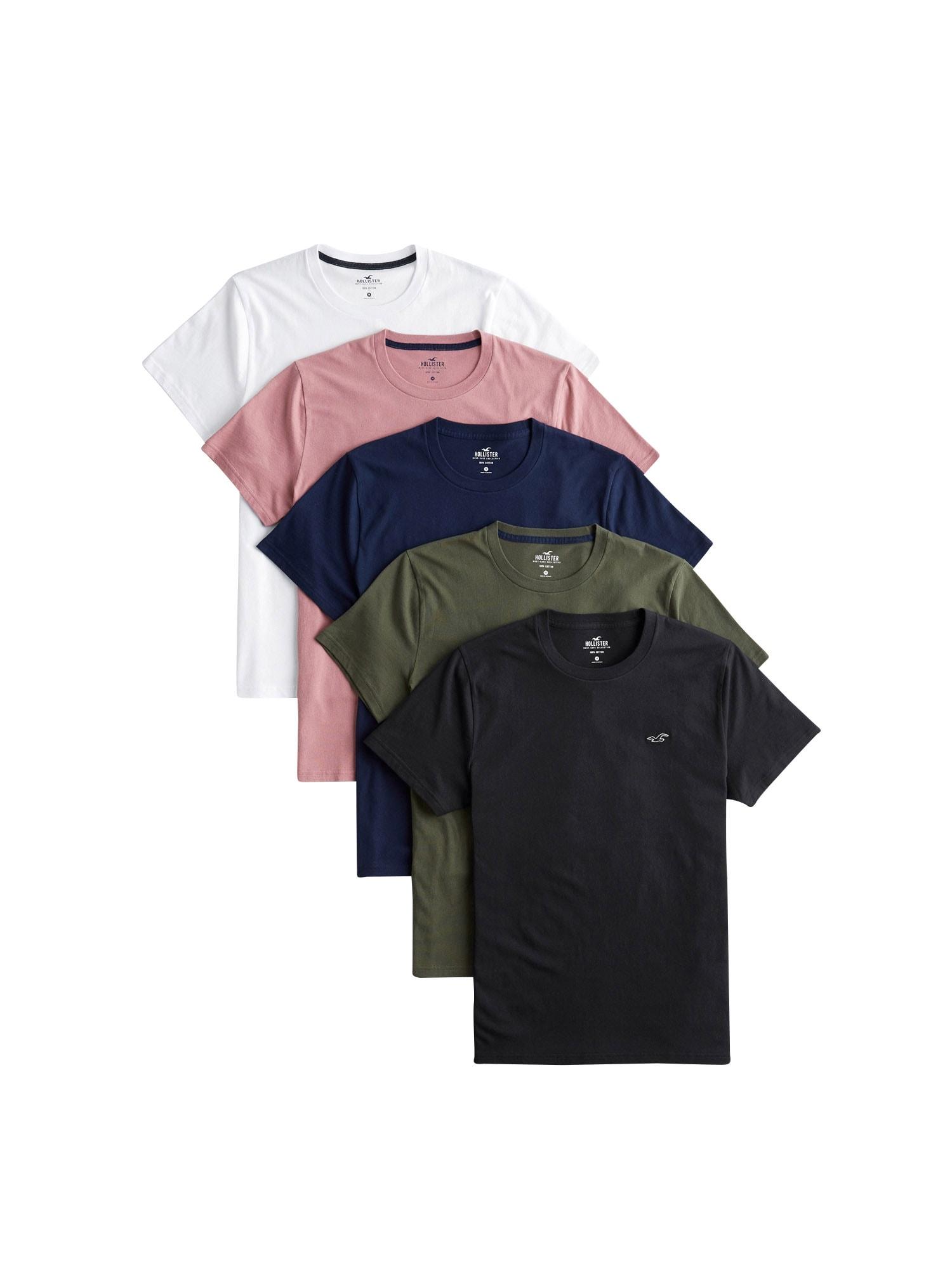 HOLLISTER Marškinėliai balta / mišrios spalvos