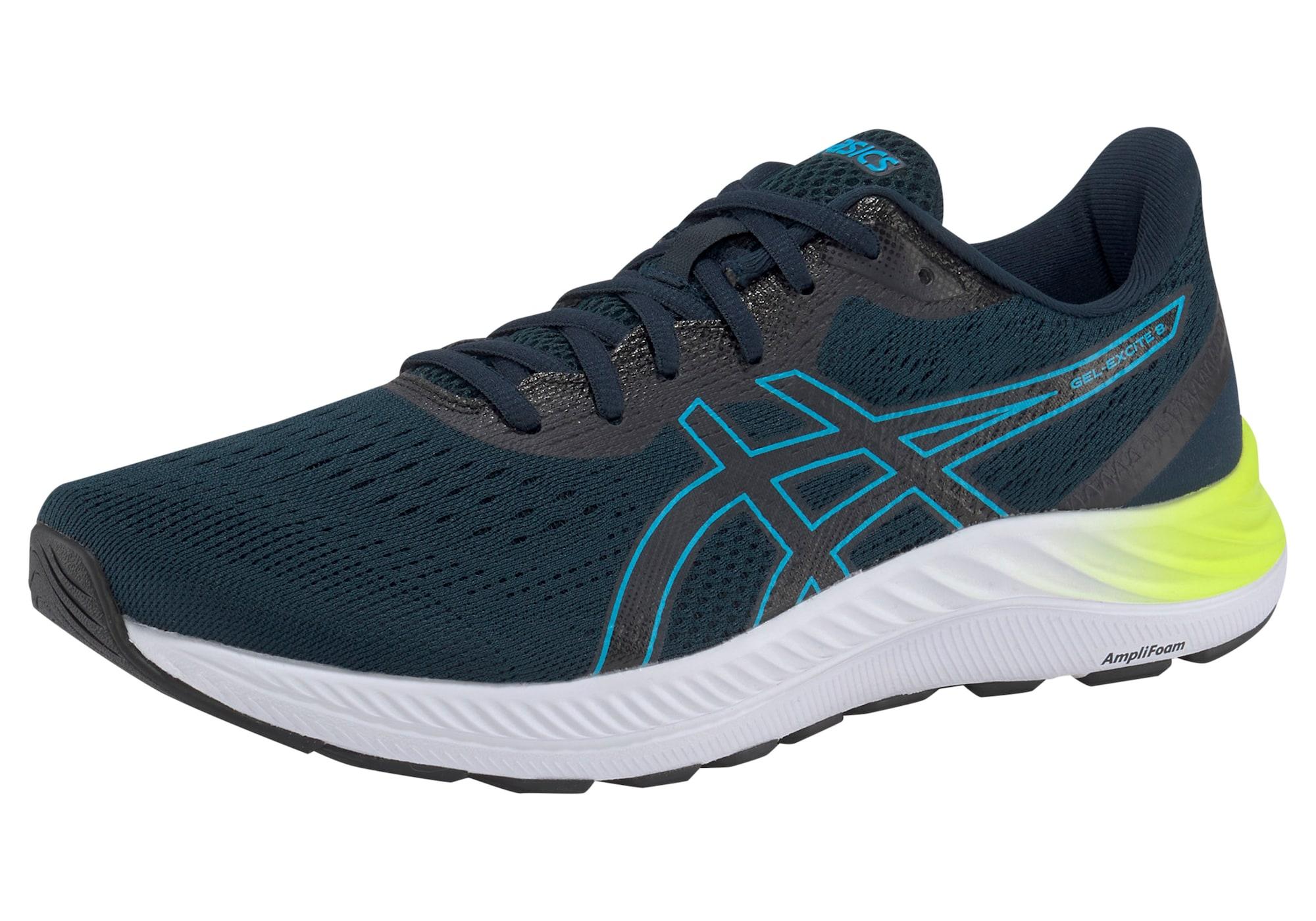 ASICS Bėgimo batai tamsiai mėlyna / žalsvai mėlyna / geltona