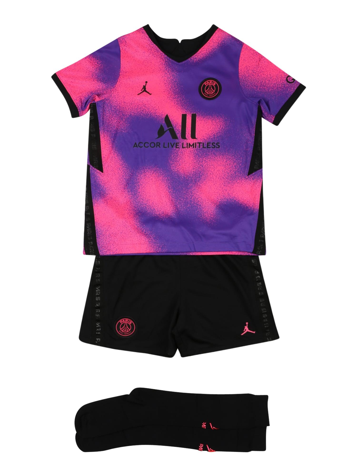 NIKE Sportinis kostiumas juoda / purpurinė / rožinė