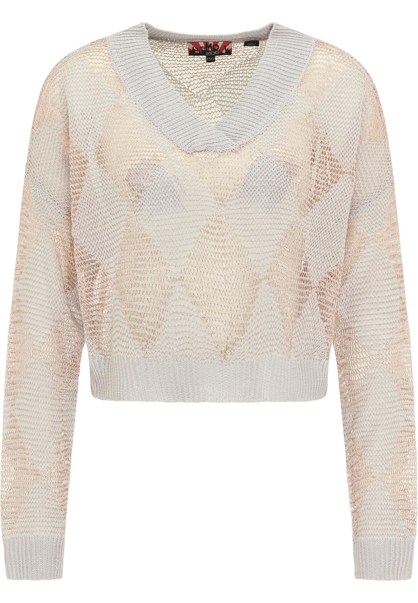 myMo ROCKS Megztinis smėlio / rožinio aukso spalva / pilka