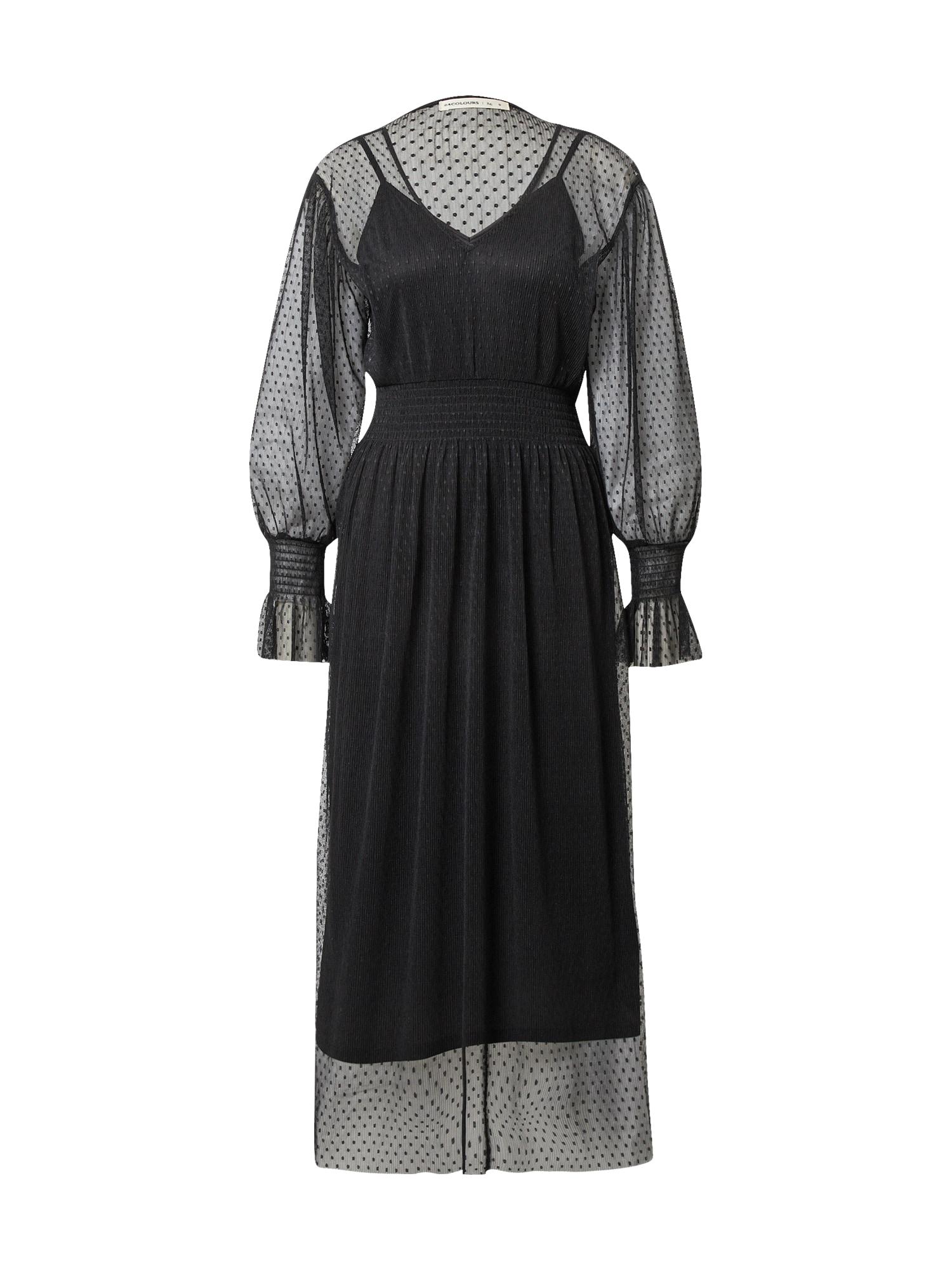 24COLOURS Palaidinės tipo suknelė juoda