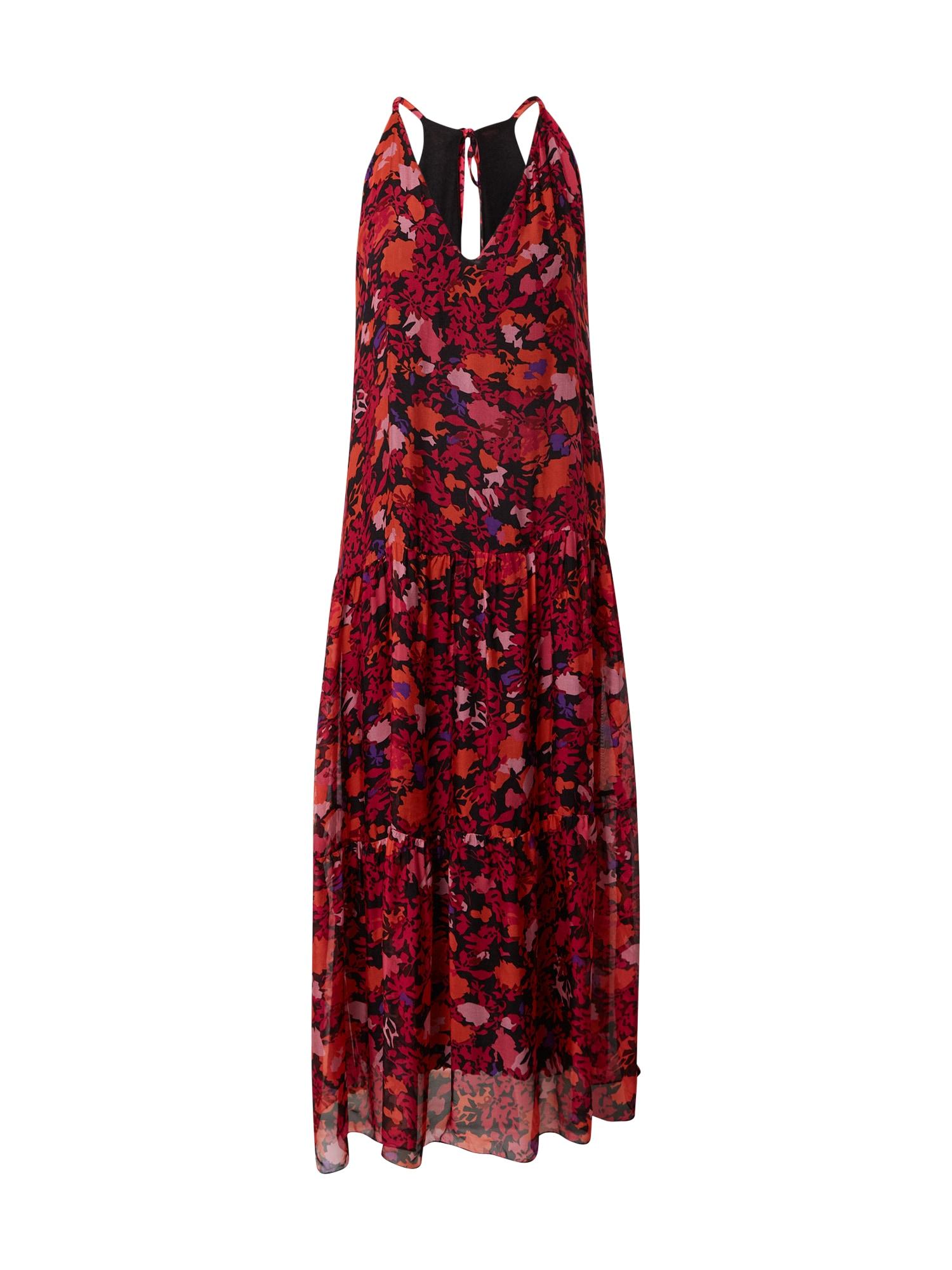 FRNCH PARIS Suknelė juoda / rožinė / rožių spalva / oranžinė / purpurinė