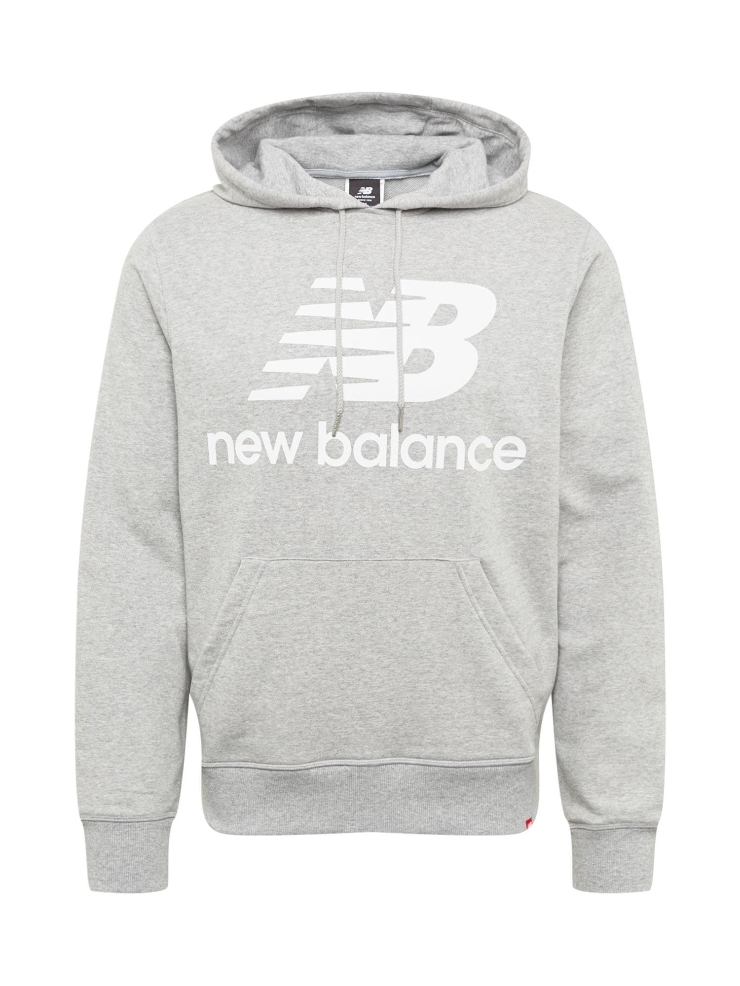 new balance Megztinis be užsegimo margai pilka / balta