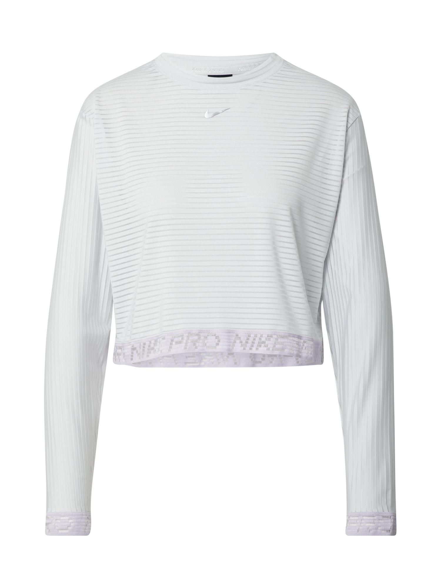 NIKE Sportiniai marškinėliai sidabras / balkšva