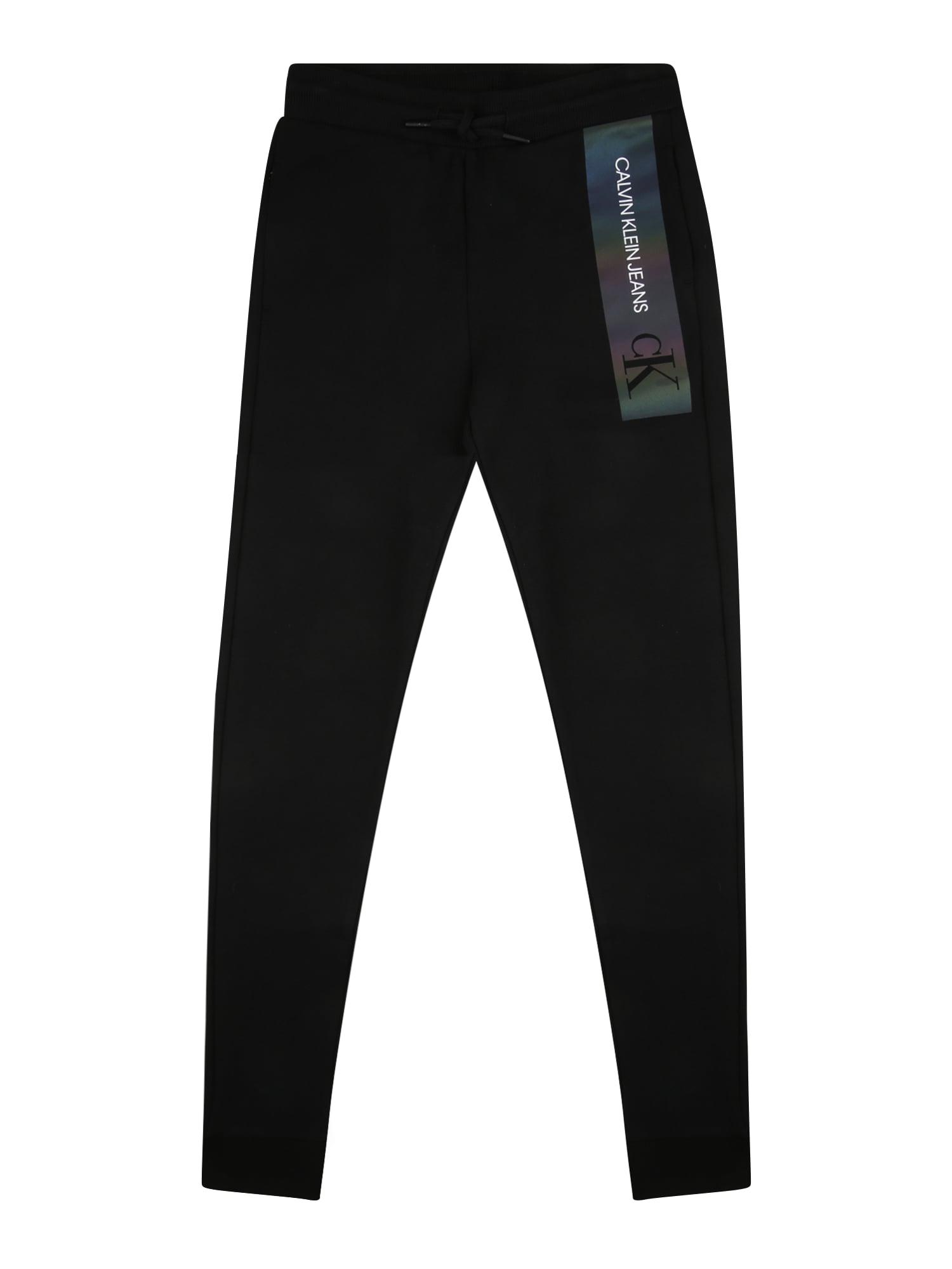Calvin Klein Jeans Kelnės juoda / balta / mišrios spalvos