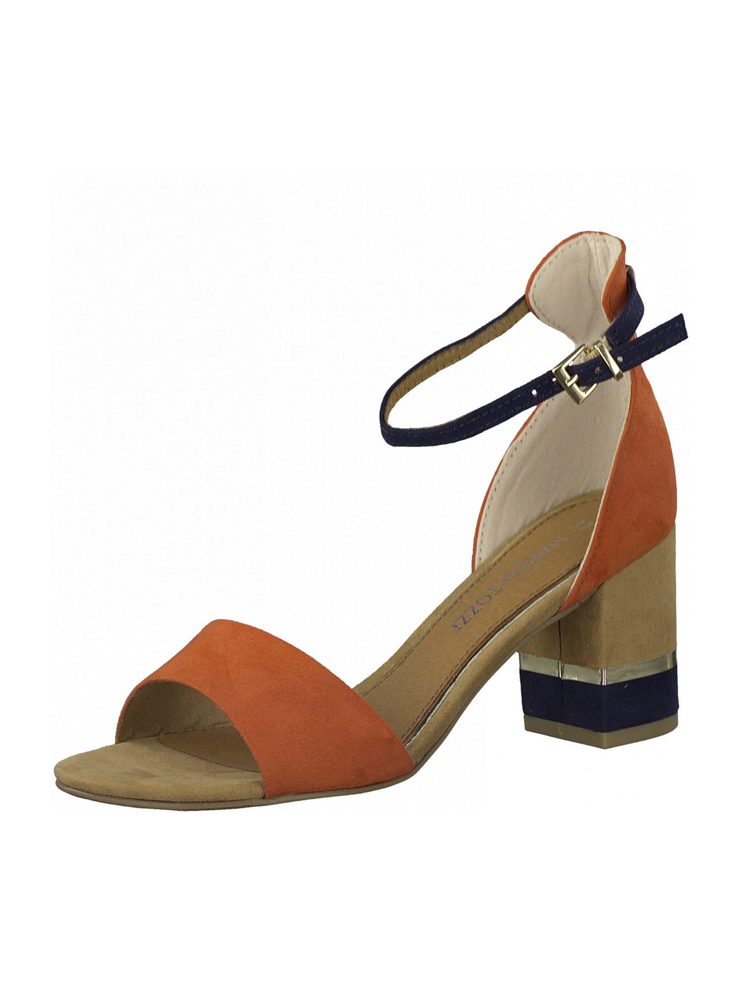 MARCO TOZZI Sandalai oranžinė / tamsiai mėlyna