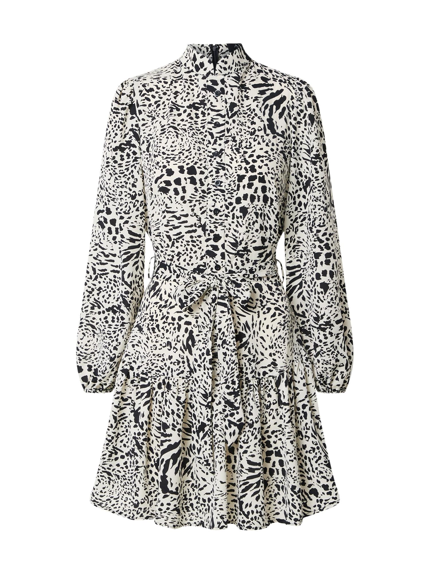 AX Paris Palaidinės tipo suknelė kremo / juoda / balta