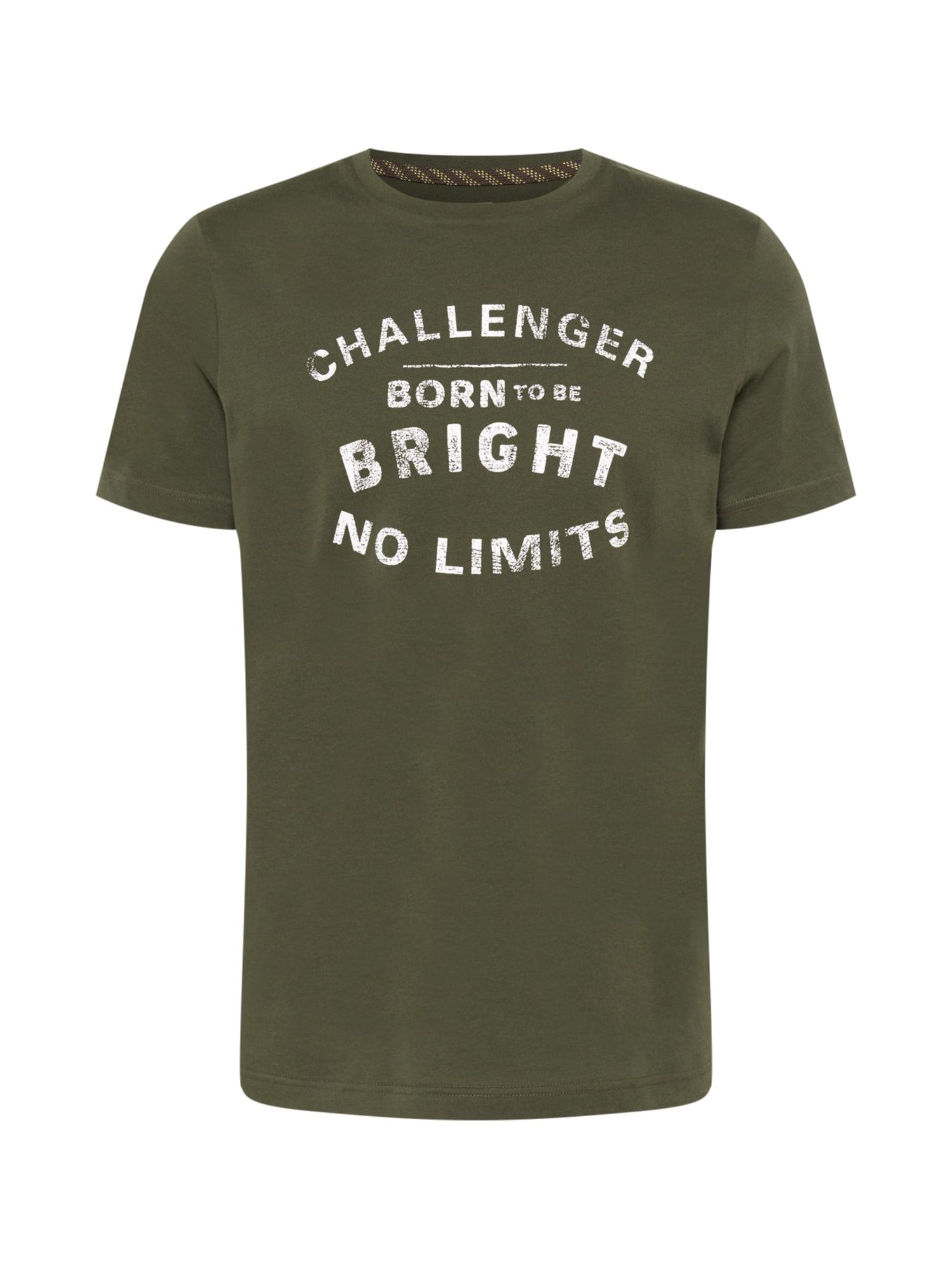 CAMEL ACTIVE Marškinėliai tamsiai žalia / balta