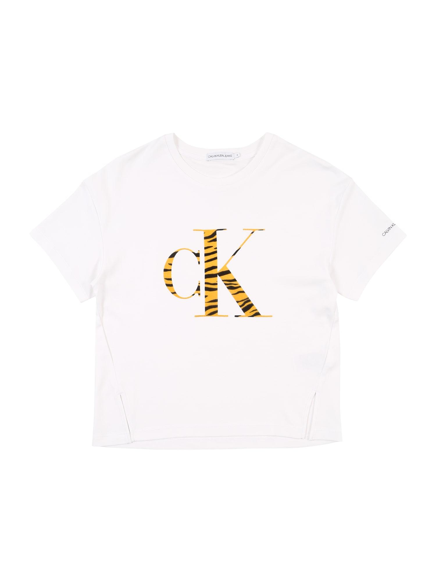Calvin Klein Jeans Marškinėliai 'URBAN ANIMAL' balta
