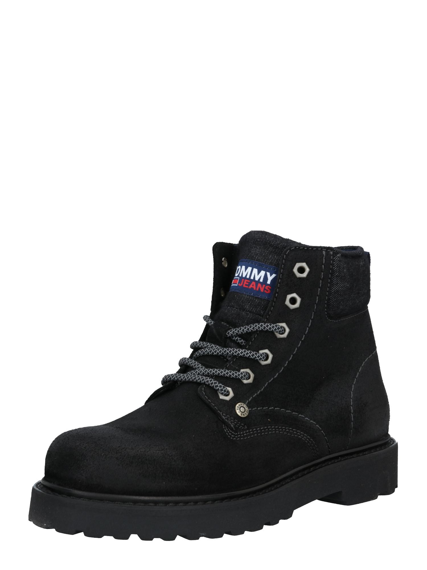 Tommy Jeans Šněrovací boty  černá