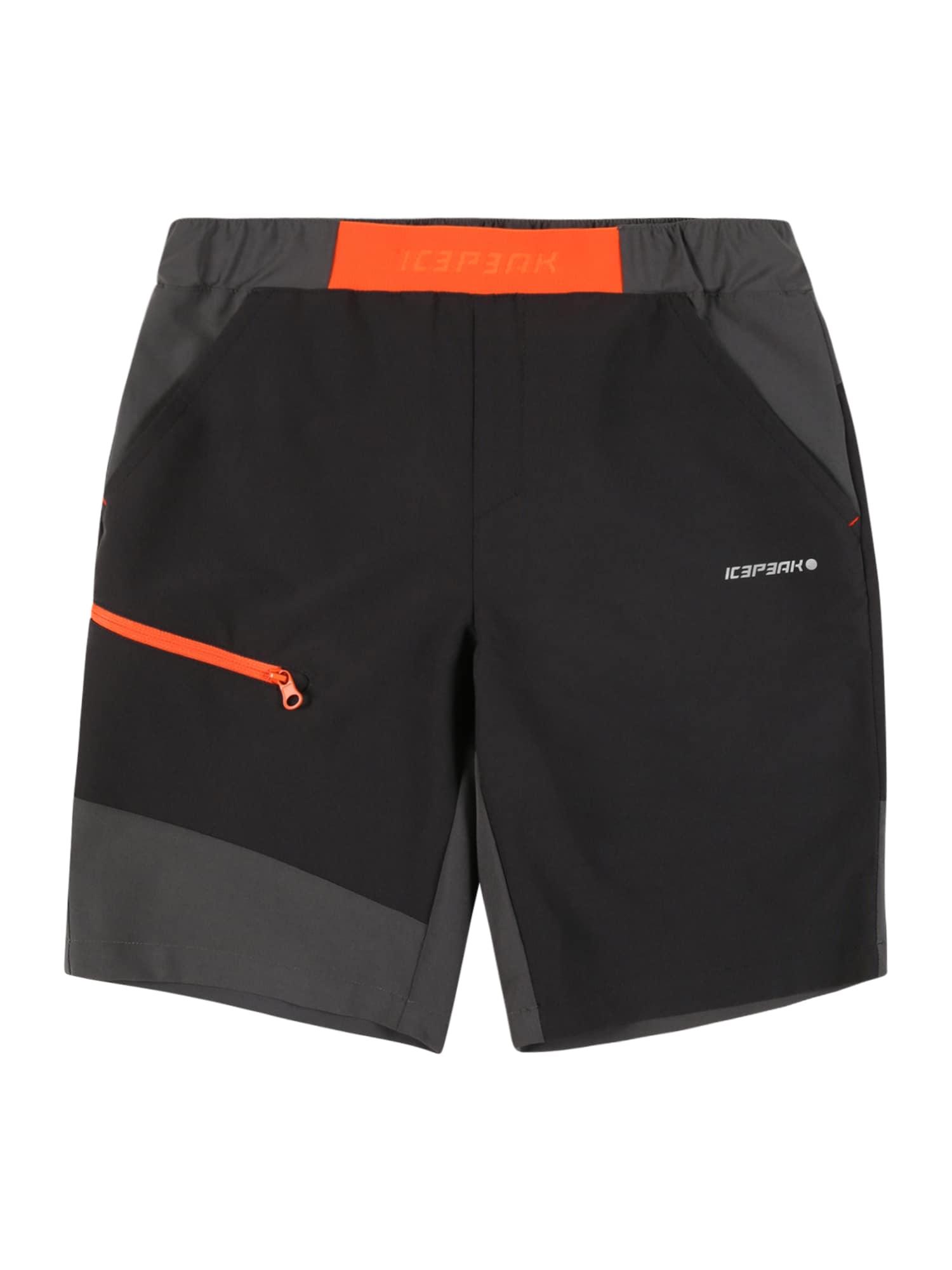 ICEPEAK Sportinės kelnės antracito spalva / akmens / oranžinė / balta