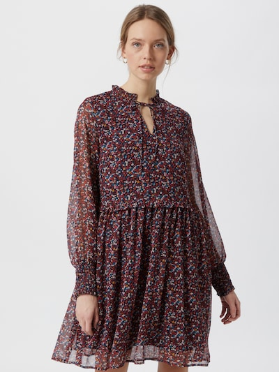 Y.A.S Vicky Long Sleeve Speckled Print Chiffon Dress