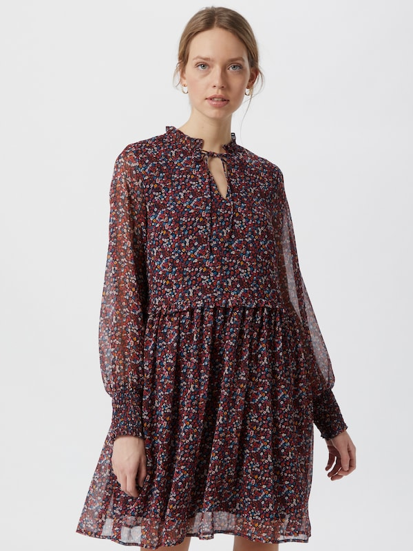 Y.A.S Vicky langärmeliges Chiffonkleid mit Fleckenprint