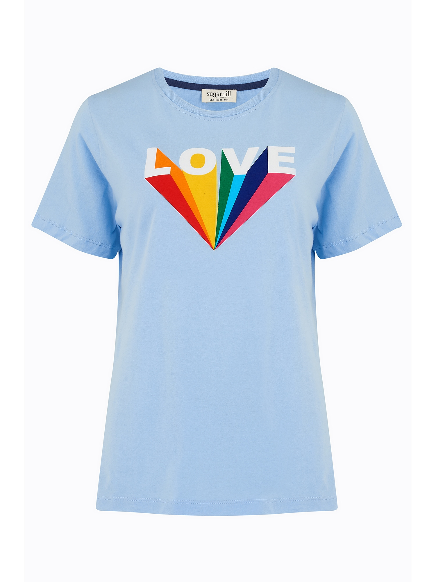 Sugarhill Brighton Marškinėliai mėlyna / balta / raudona / žalia