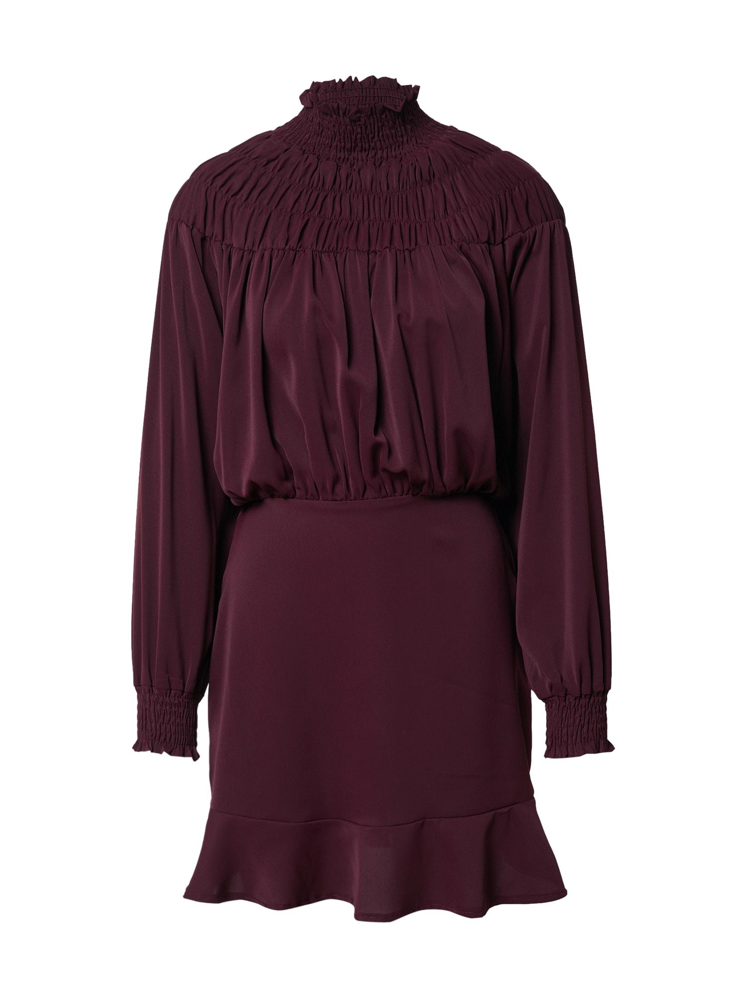 AX Paris Suknelė slyvų spalva / uogų spalva