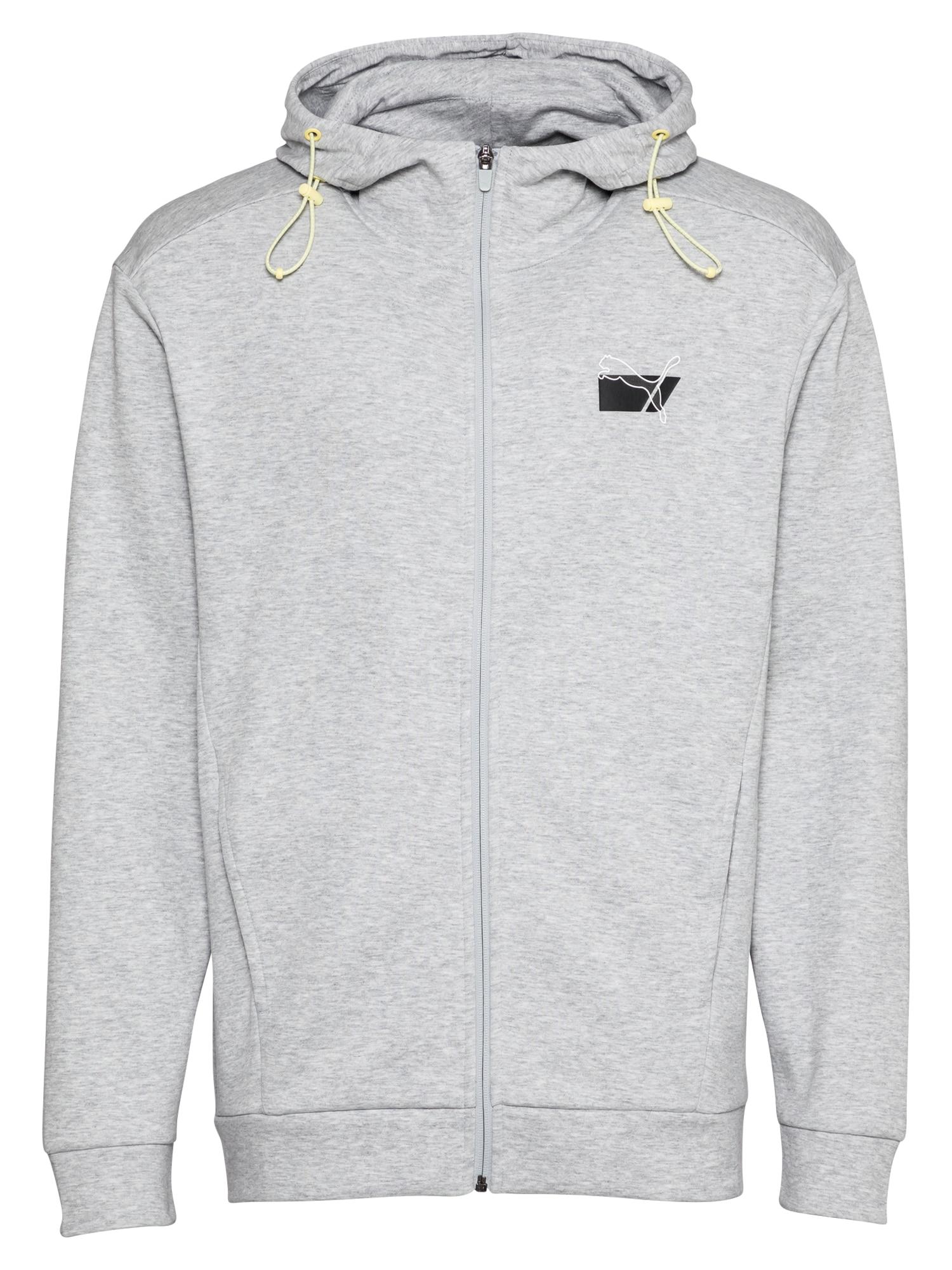 PUMA Sportinis džemperis margai pilka / juoda / balta