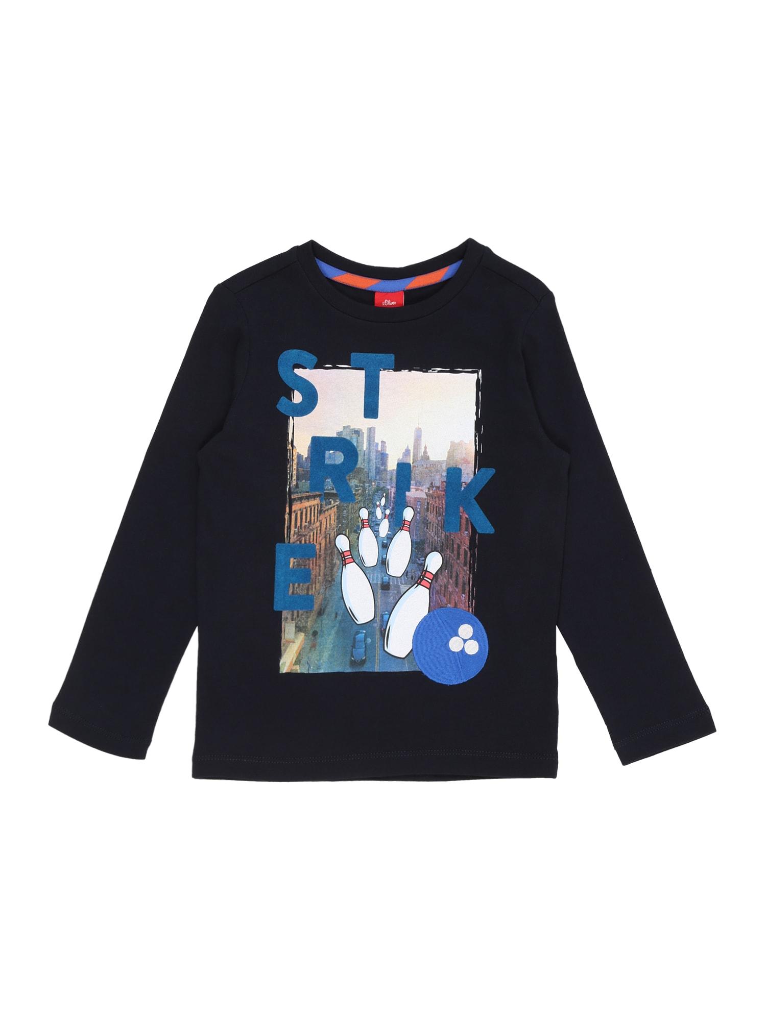 s.Oliver Junior Tričko  tmavě modrá