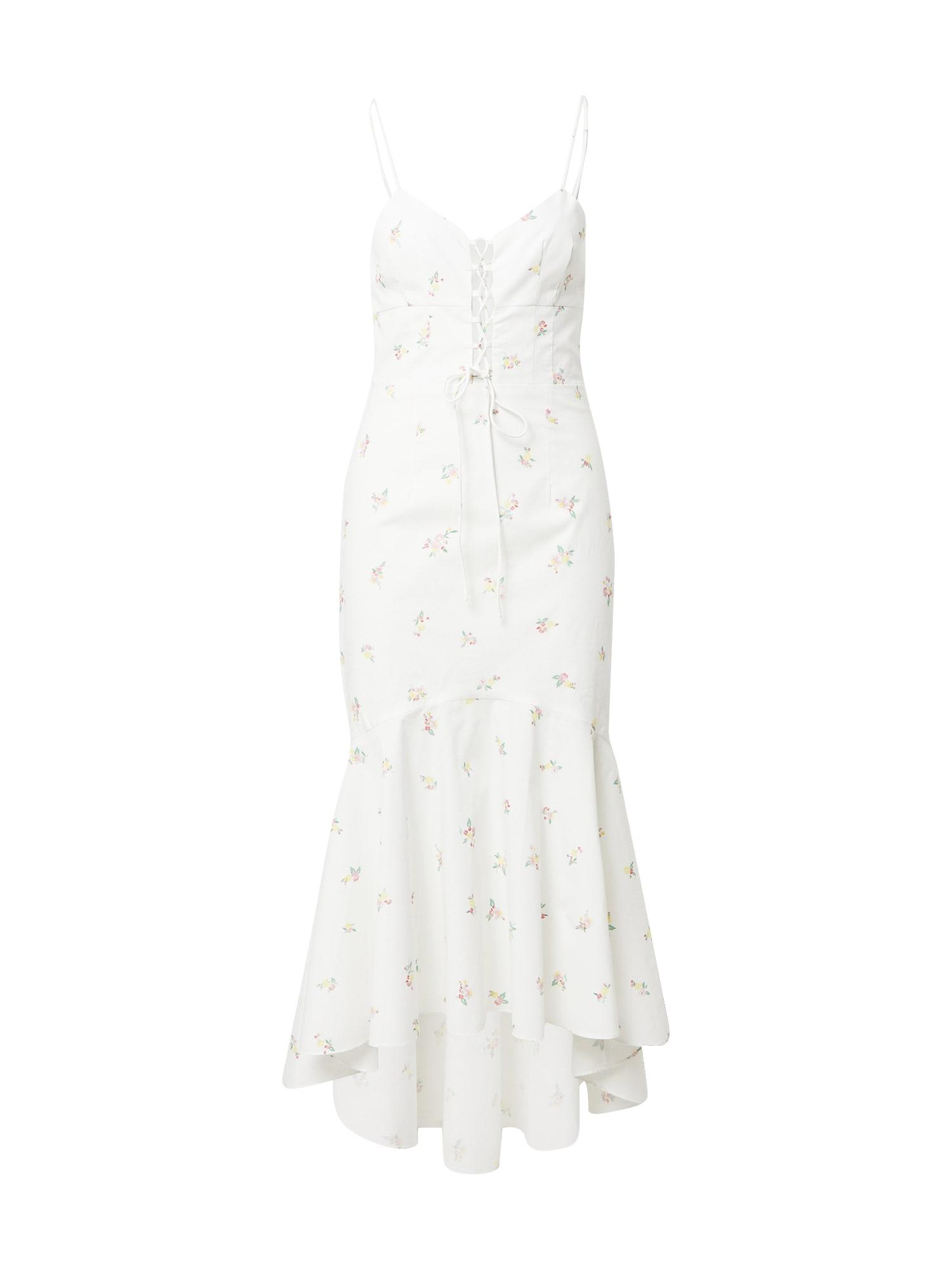 True Decadence Suknelė balta / rožių spalva / geltona / žalia