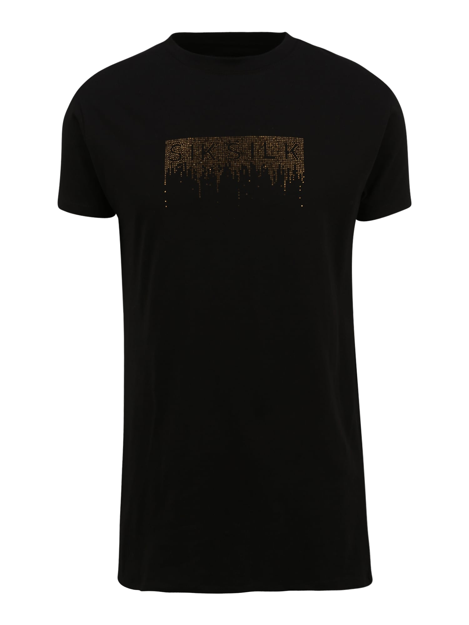 SikSilk Marškinėliai juoda / auksas