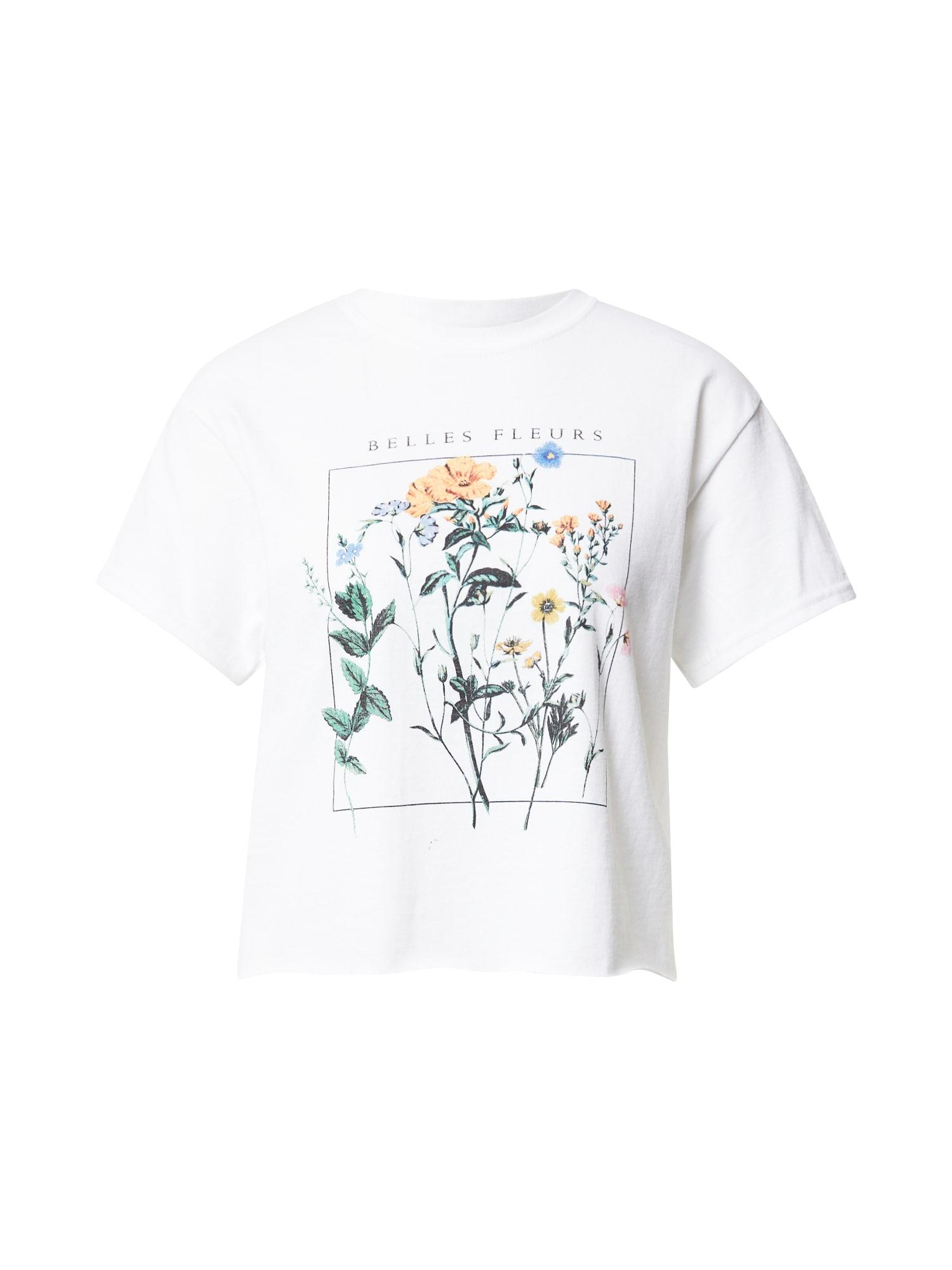 Miss Selfridge Marškinėliai balta / geltona / žalia