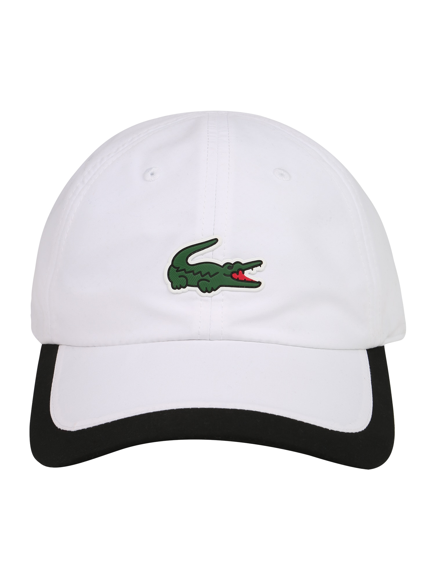 Lacoste Sport Sportinė kepurė balta / juoda / tamsiai žalia / šviesiai raudona
