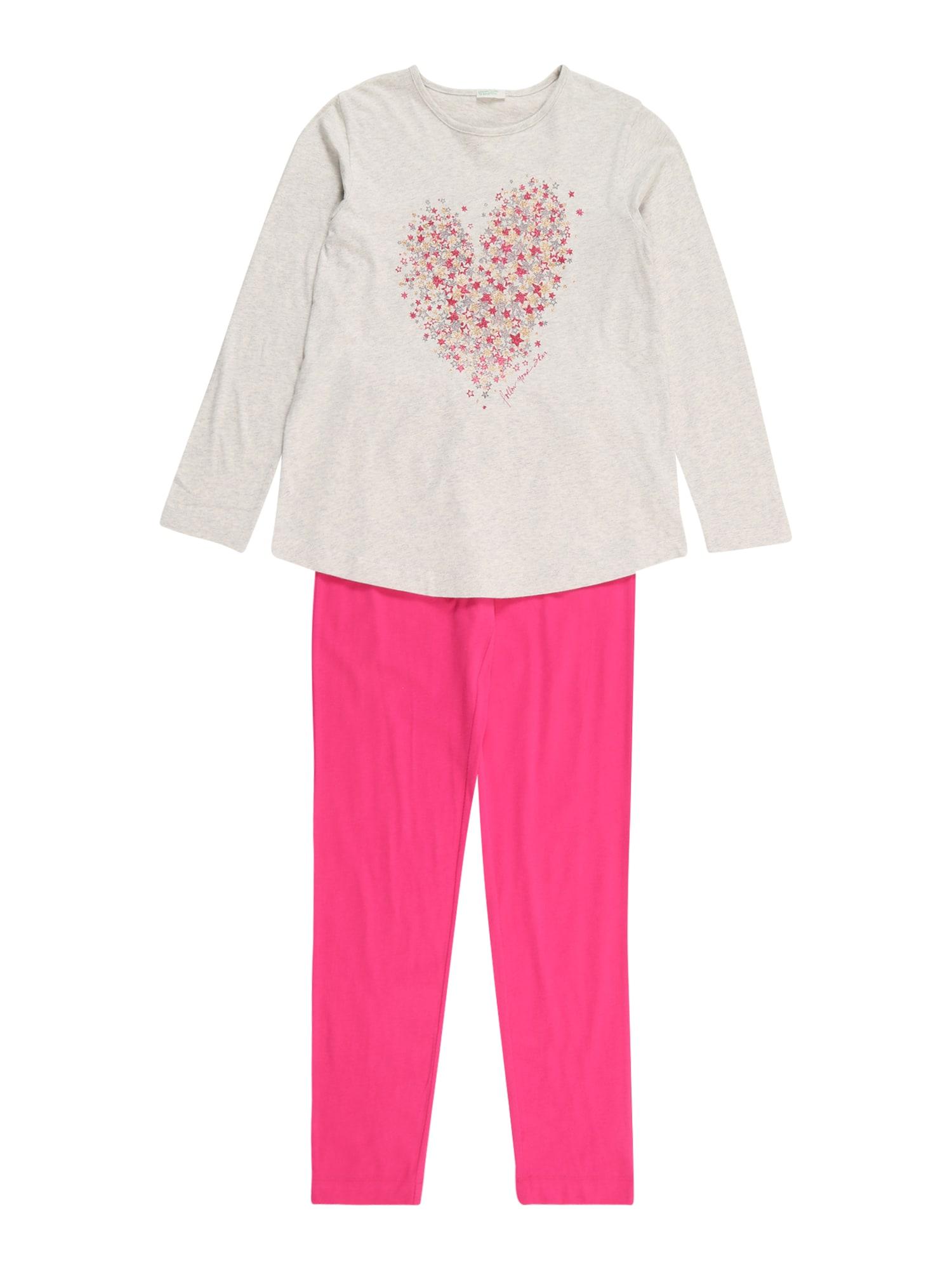 UNITED COLORS OF BENETTON Miego kostiumas smėlio / rožinė / auksas