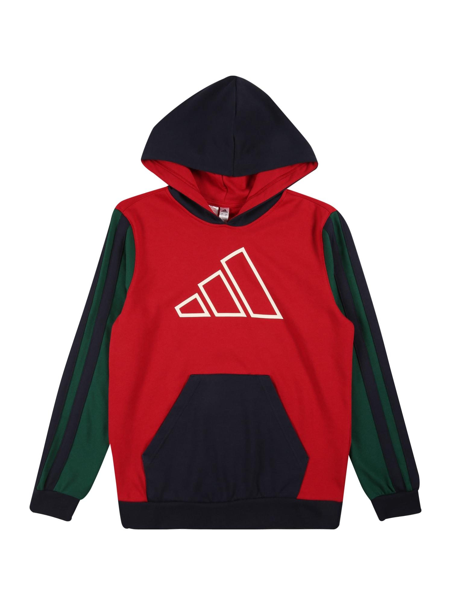 ADIDAS PERFORMANCE Sportinio tipo megztinis raudona / juoda / tamsiai žalia / balta