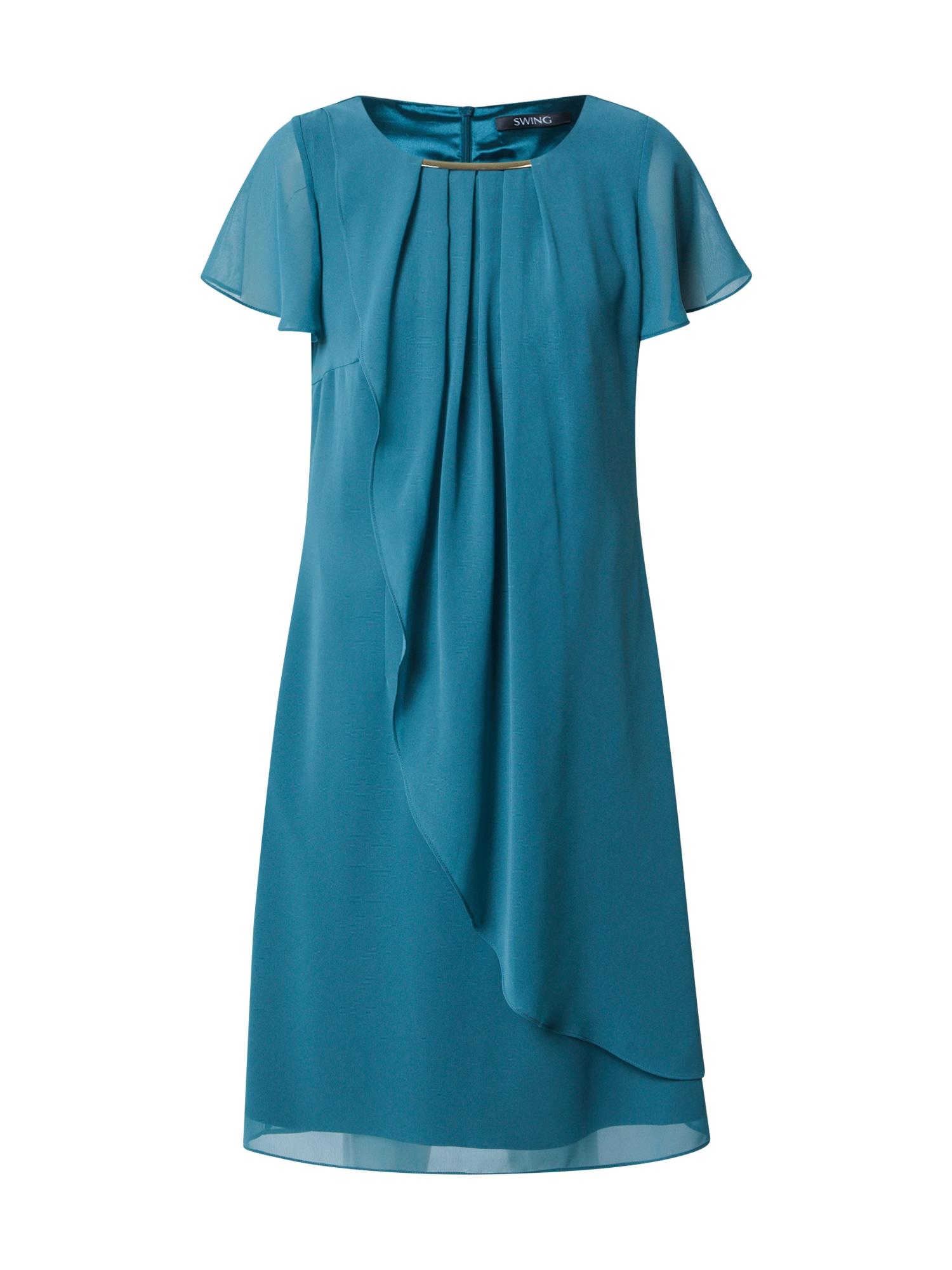 SWING Kokteilinė suknelė benzino spalva