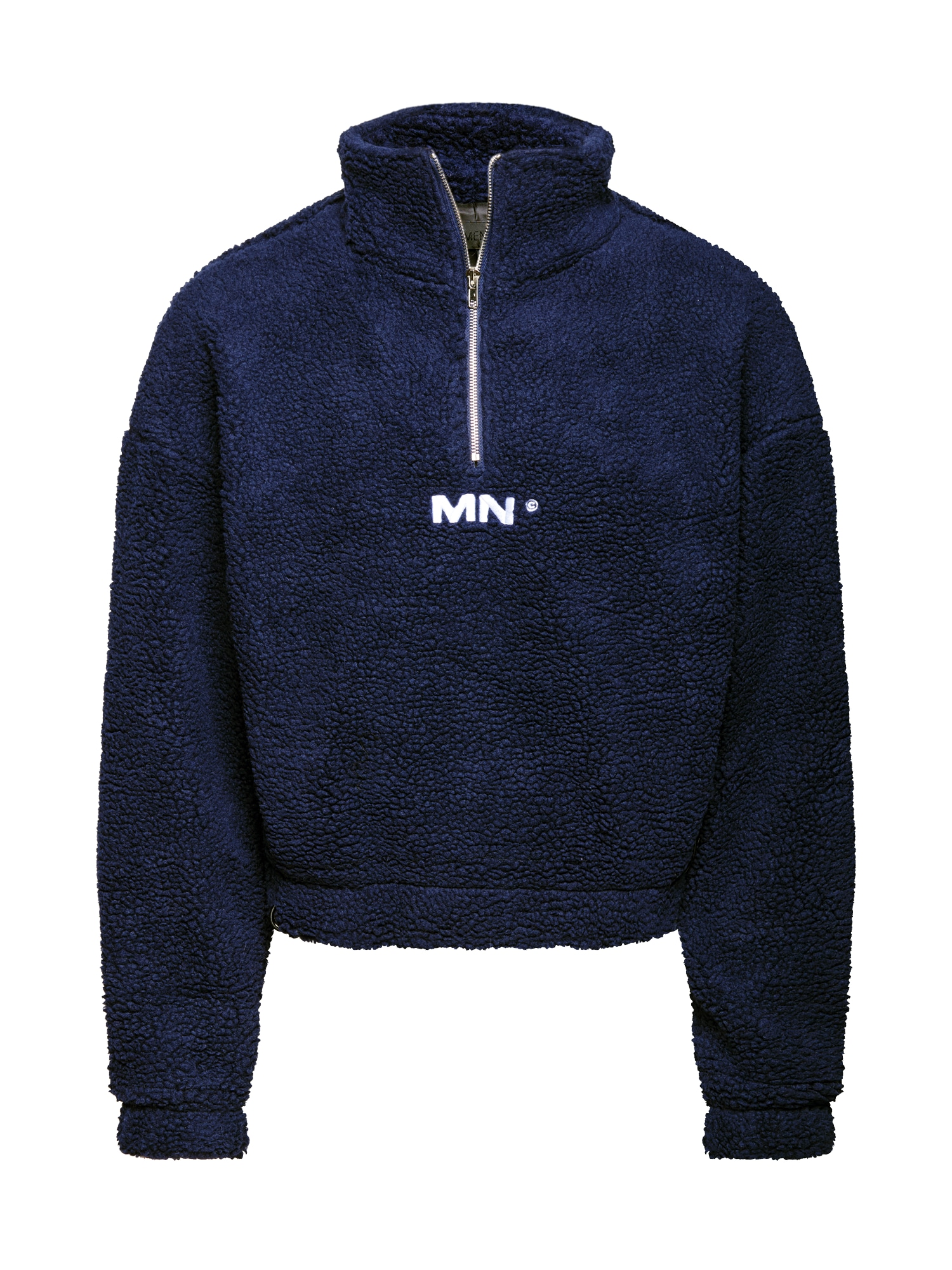 Mennace Megztinis be užsegimo tamsiai mėlyna / balta