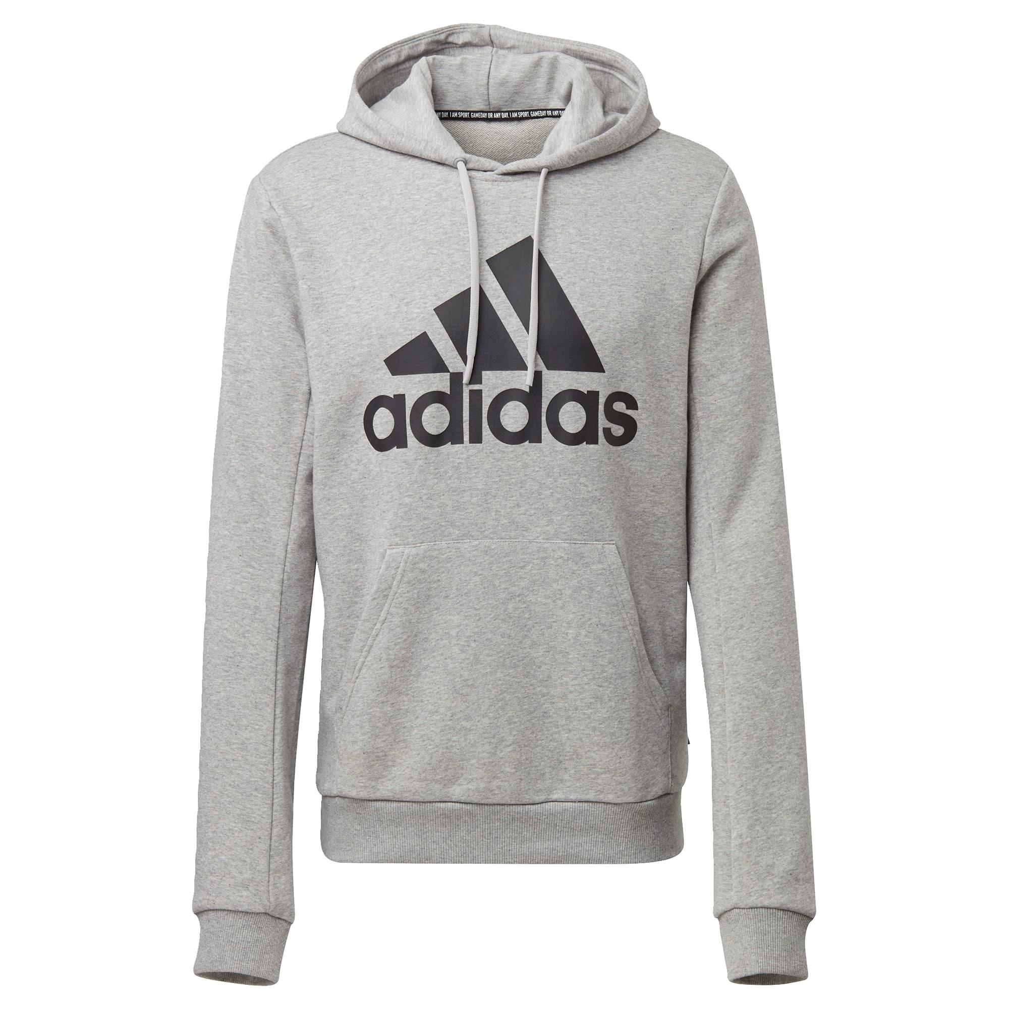 ADIDAS PERFORMANCE Sportinio tipo megztinis juoda / pilka