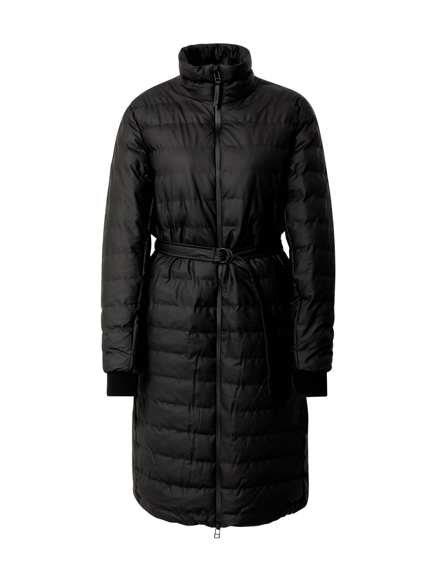 RAINS Žieminis paltas juoda