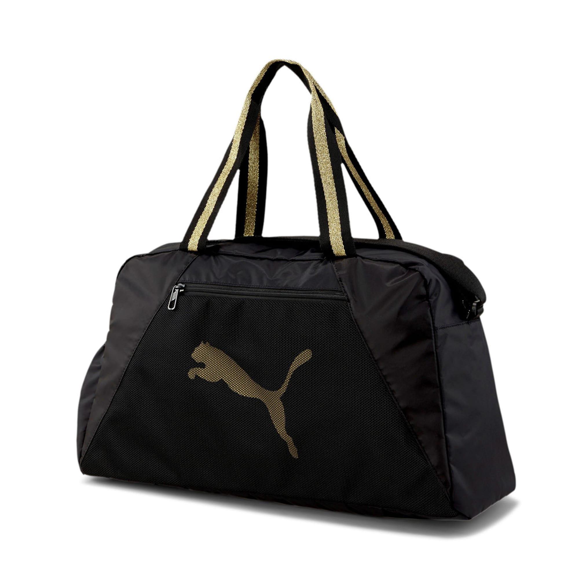 PUMA Sportinis krepšys juoda / auksas