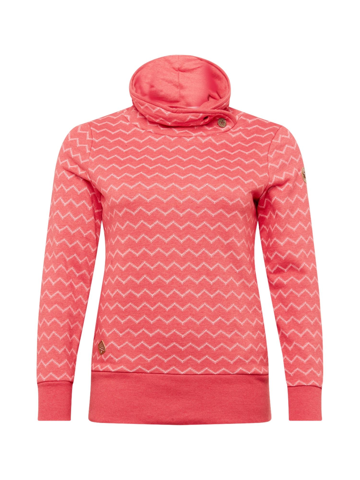 Ragwear Plus Megztinis be užsegimo melionų spalva / balta