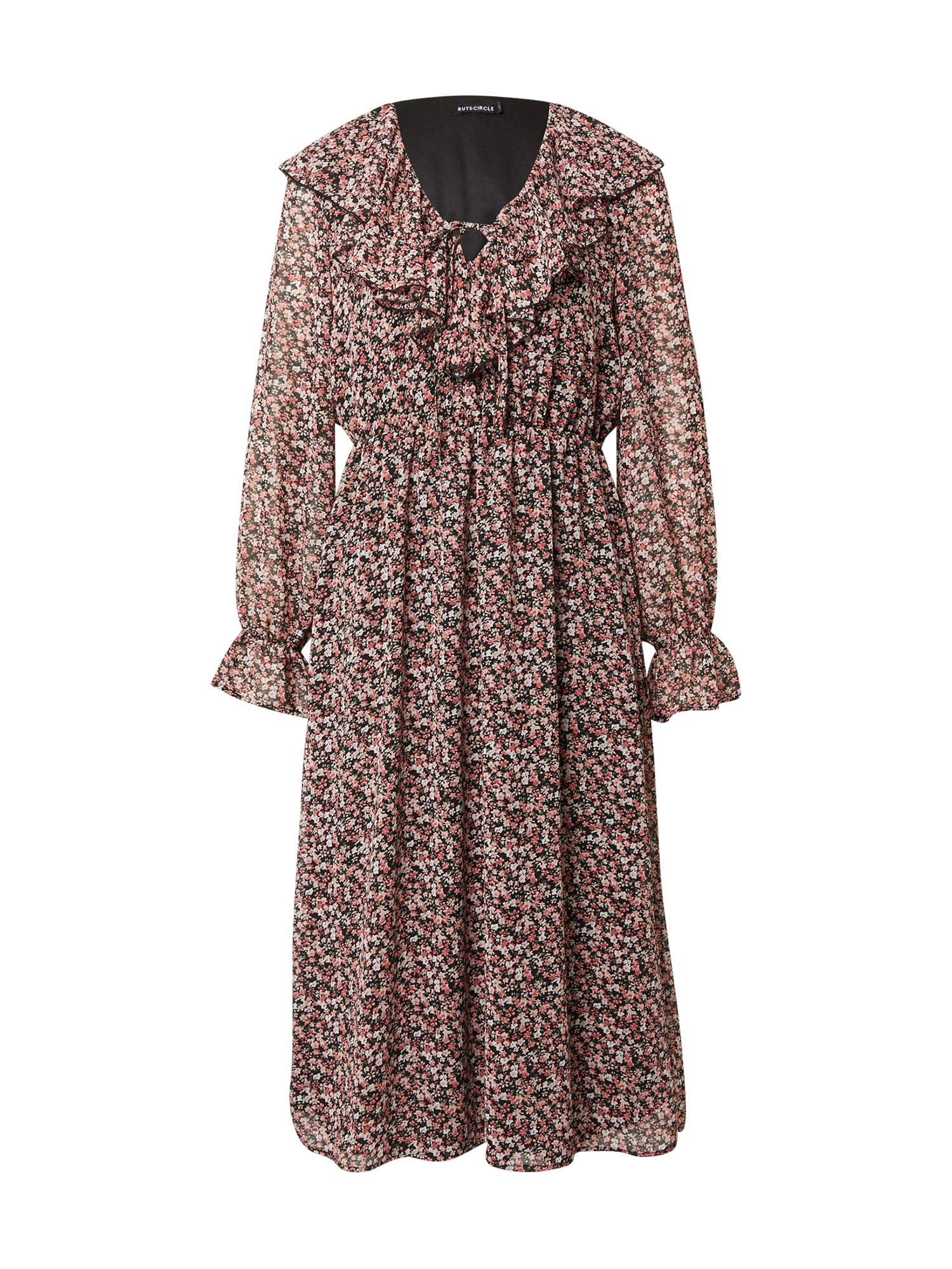 Rut & Circle Šaty 'NADINE'  pink / bílá / noční modrá