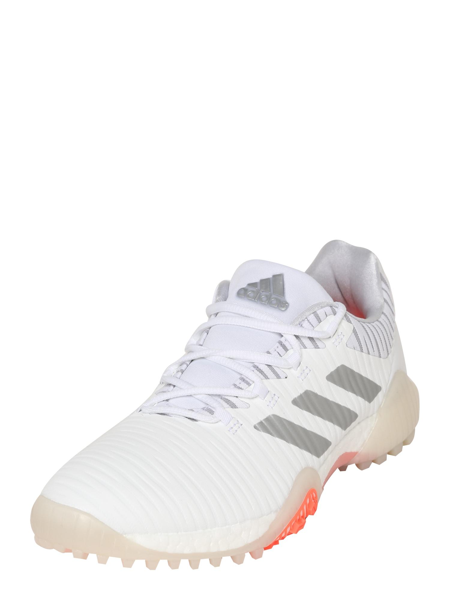 adidas Golf Sportiniai batai 'Codechaos' balta / sidabrinė
