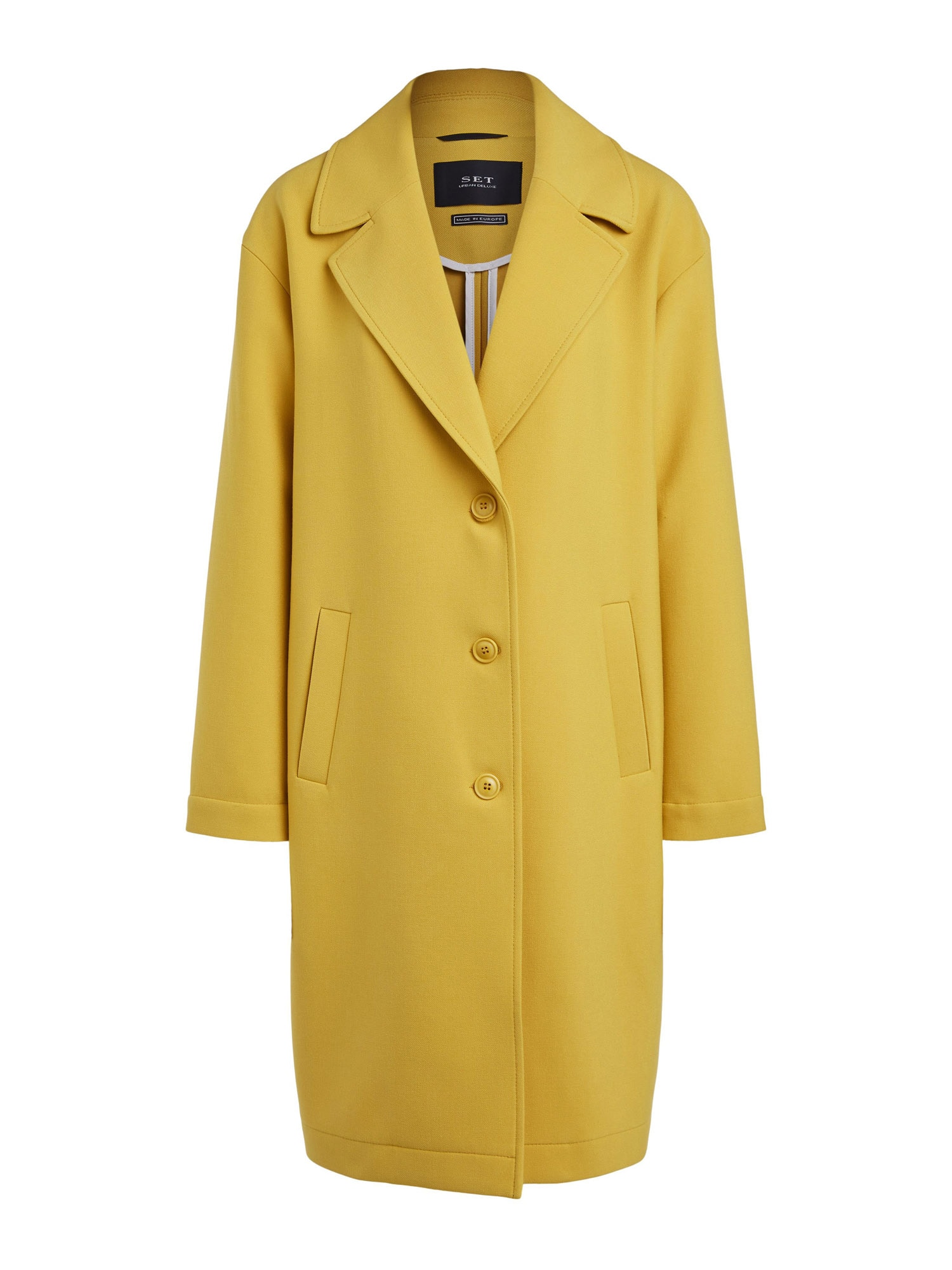 SET Demisezoninis paltas geltona