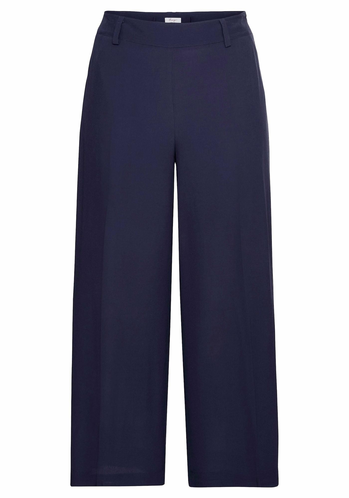 SHEEGO Kelnės su kantu tamsiai violetinė
