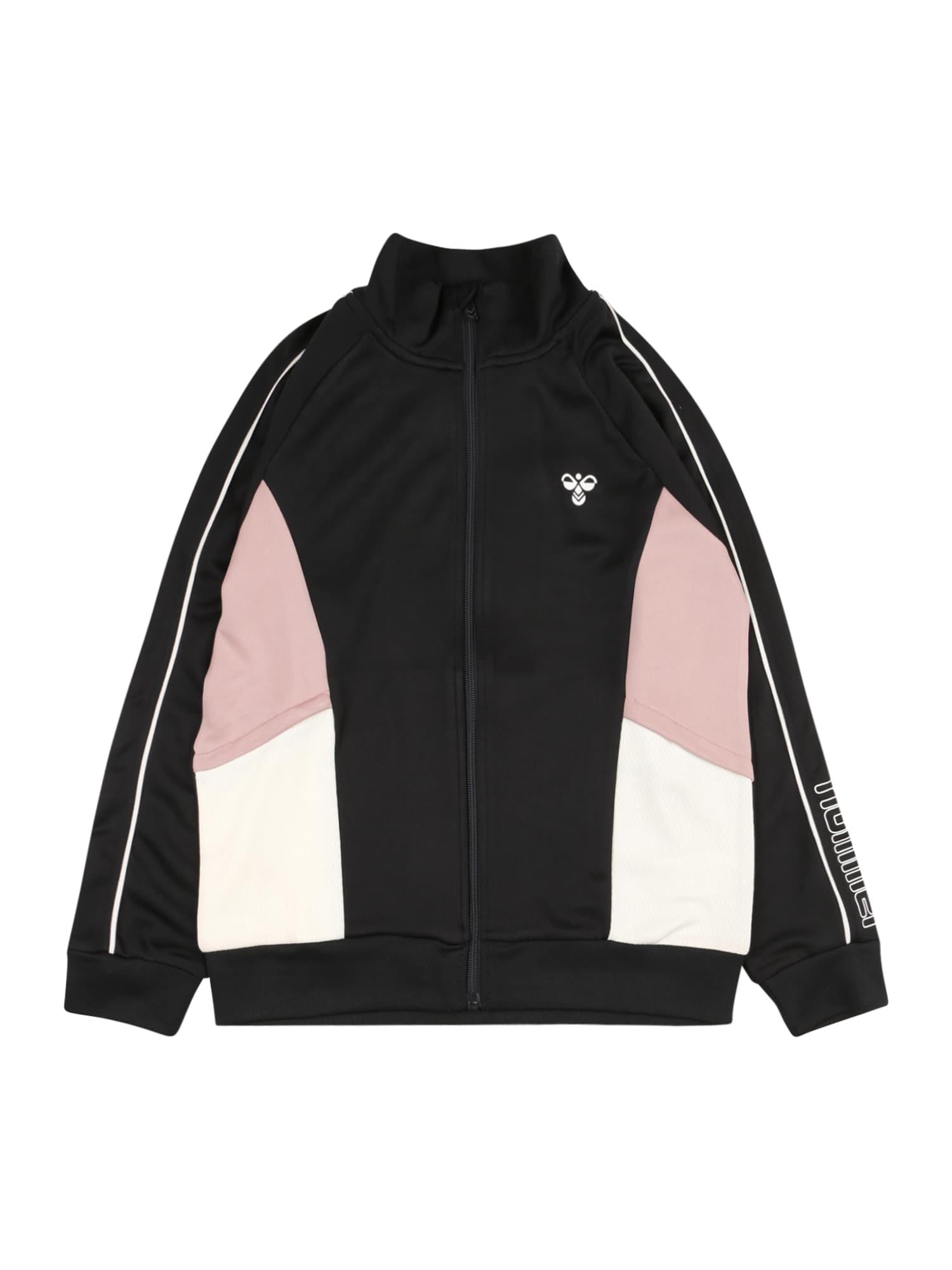 Hummel Džemperis juoda / balta / pastelinė rožinė