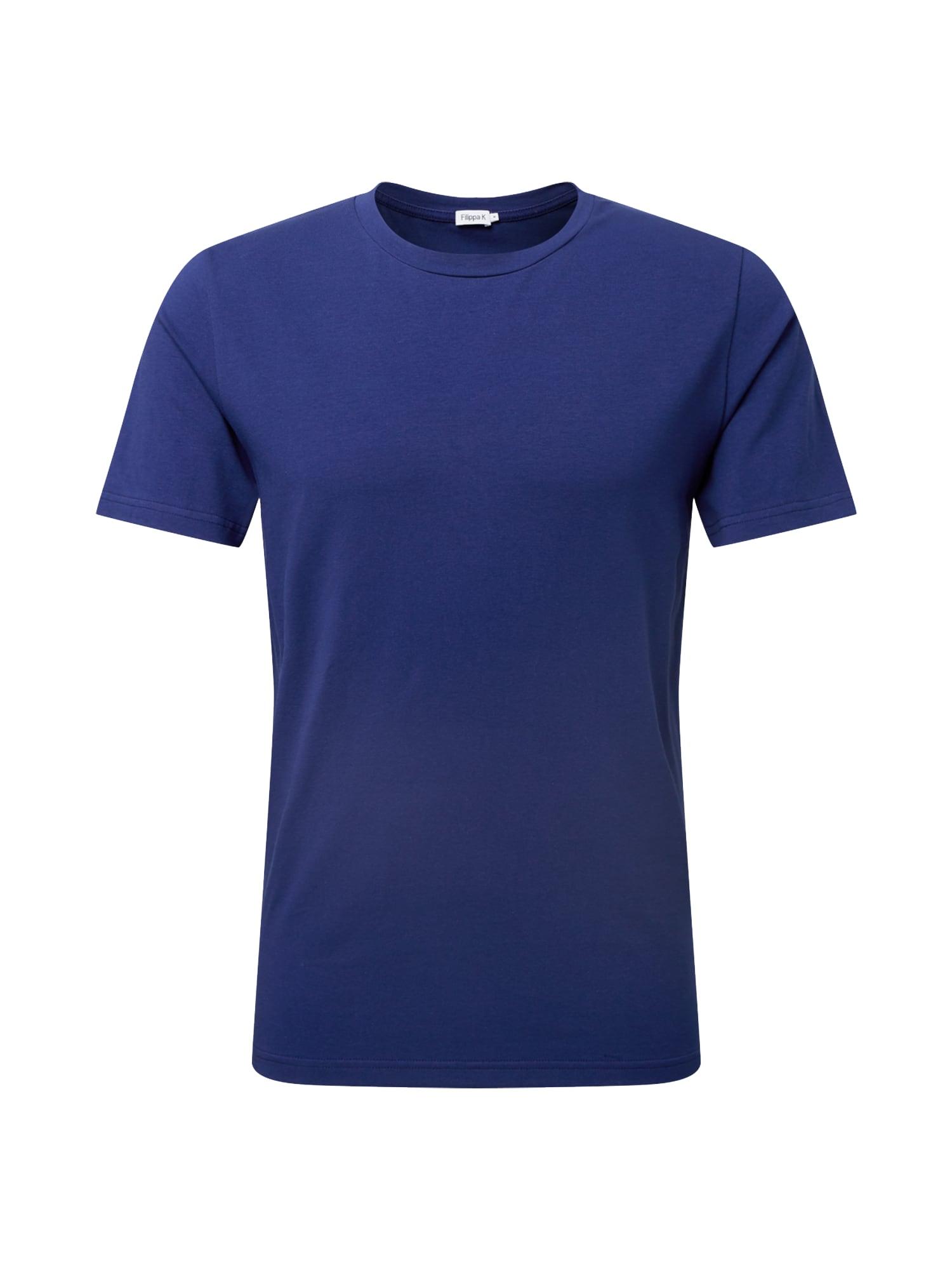 Filippa K Marškinėliai tamsiai mėlyna jūros spalva
