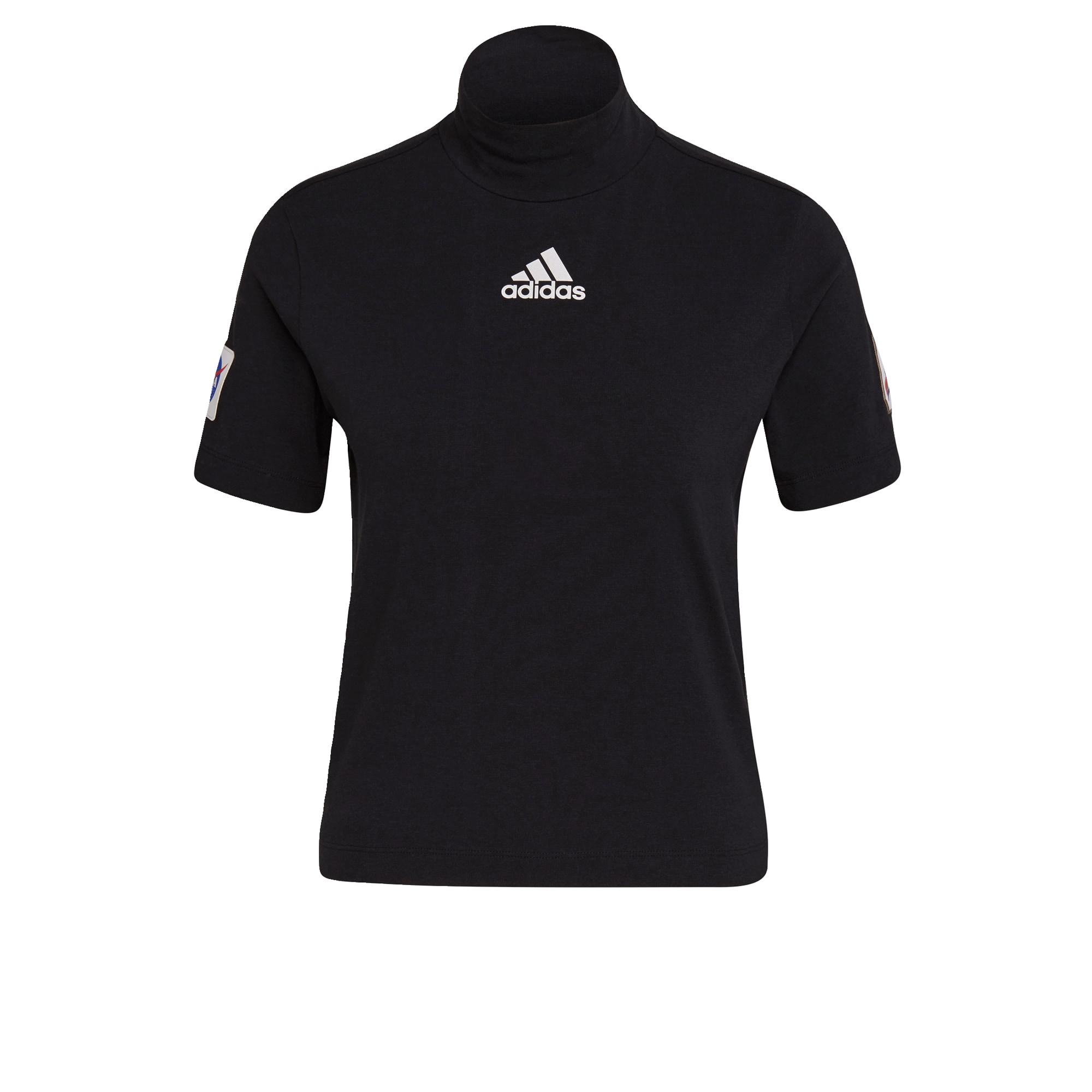 ADIDAS PERFORMANCE Sportiniai marškinėliai juoda / balta / mėlyna